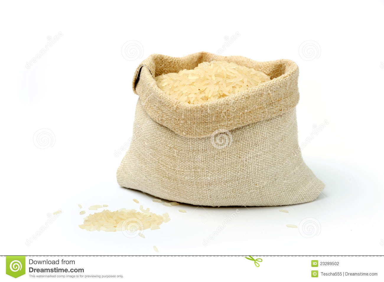 Rice in a sack stock photo. Image of plant, life, canvas ...