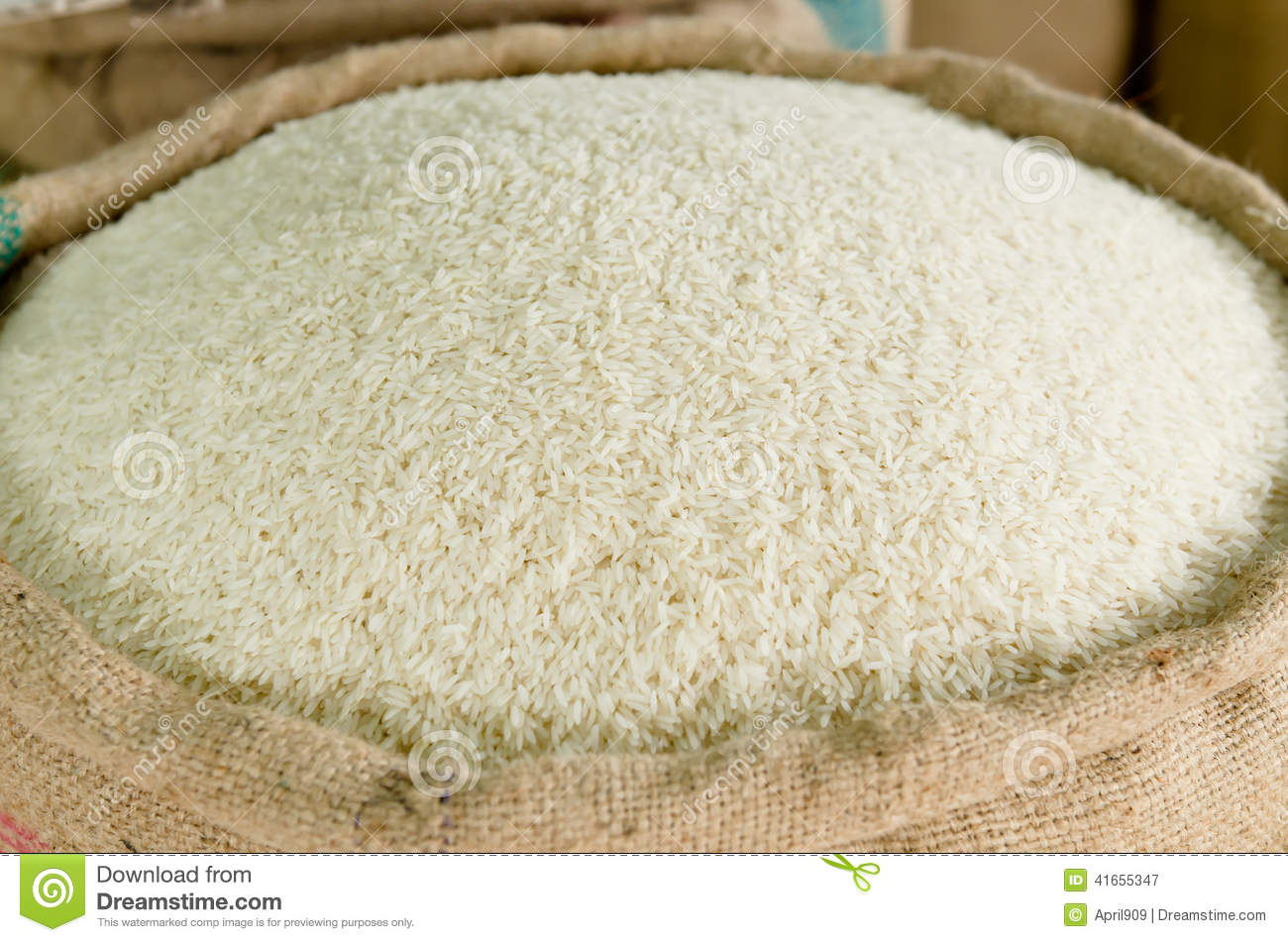Rice in a sack stock image. Image of people, ready ...