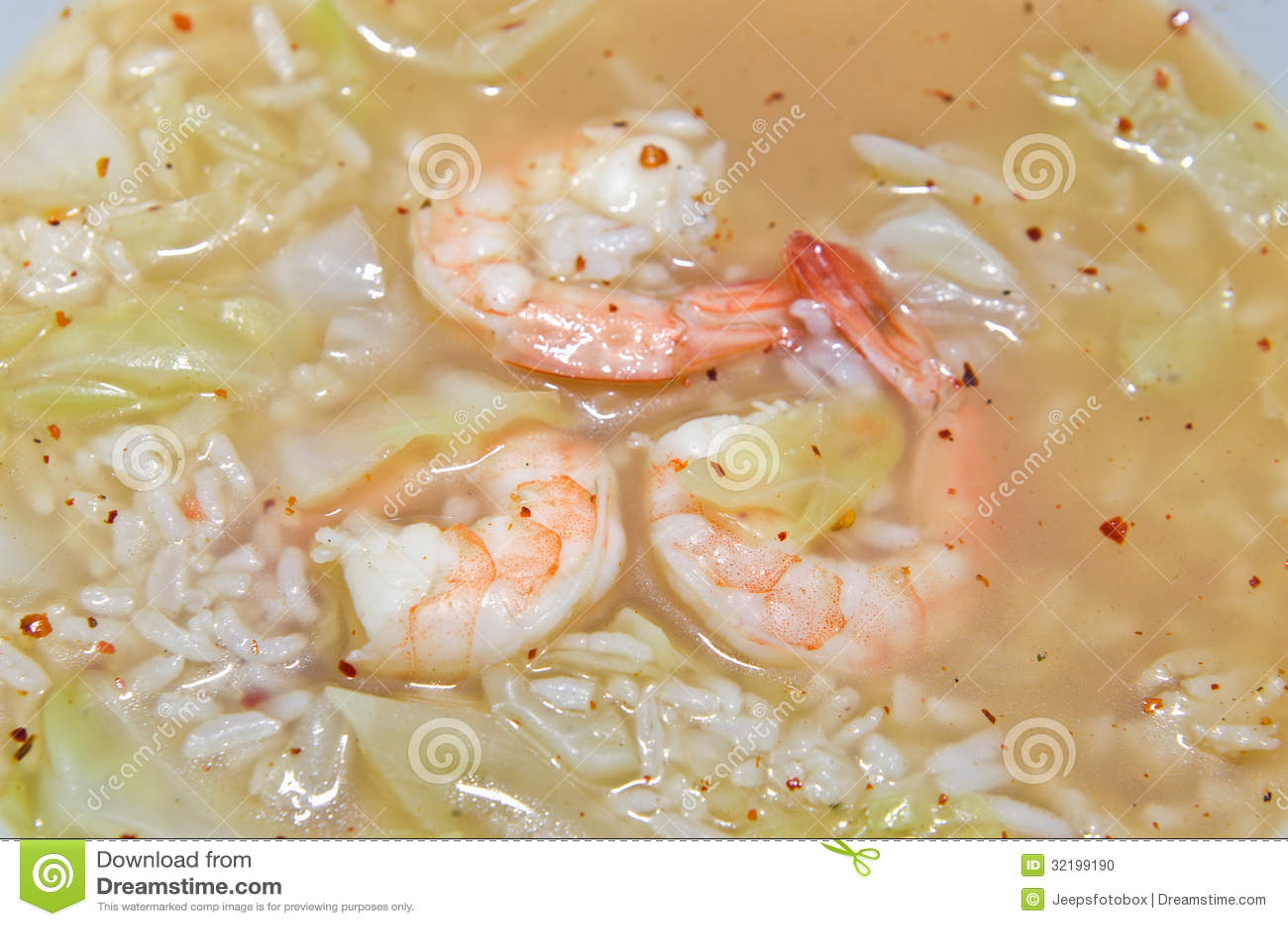 Rice Shoup With Shrimp Stock Photo - Image: 32199190