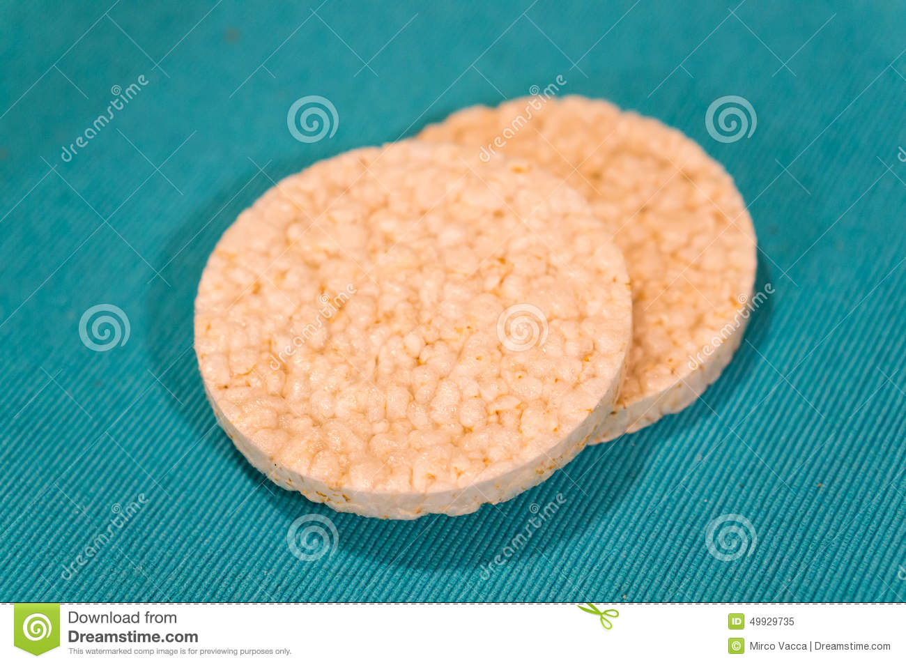 Circle Shaped Food Rice snack stoc...