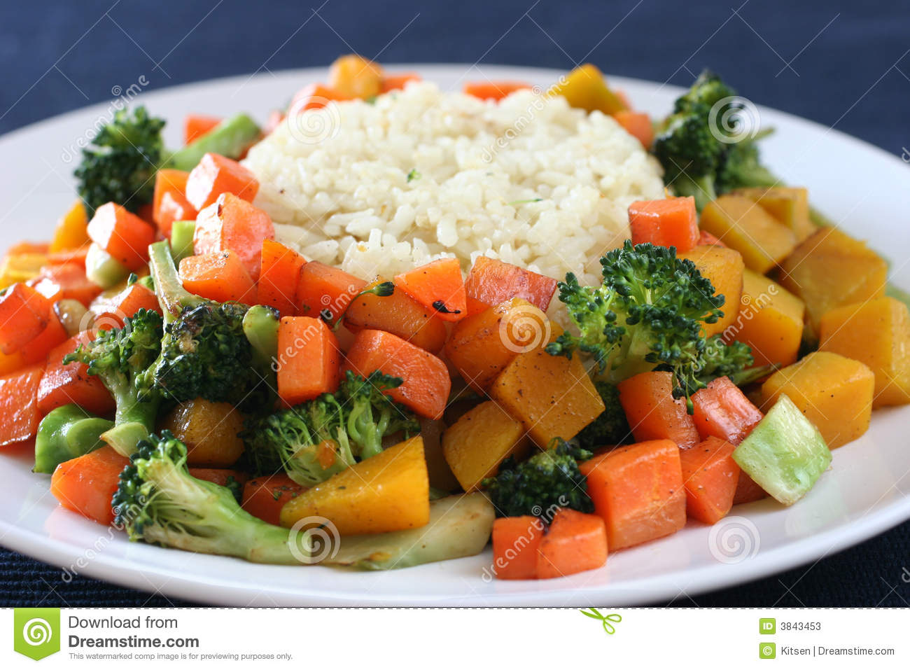 Rice Amp Vegetables Stock Photos Image 3843453