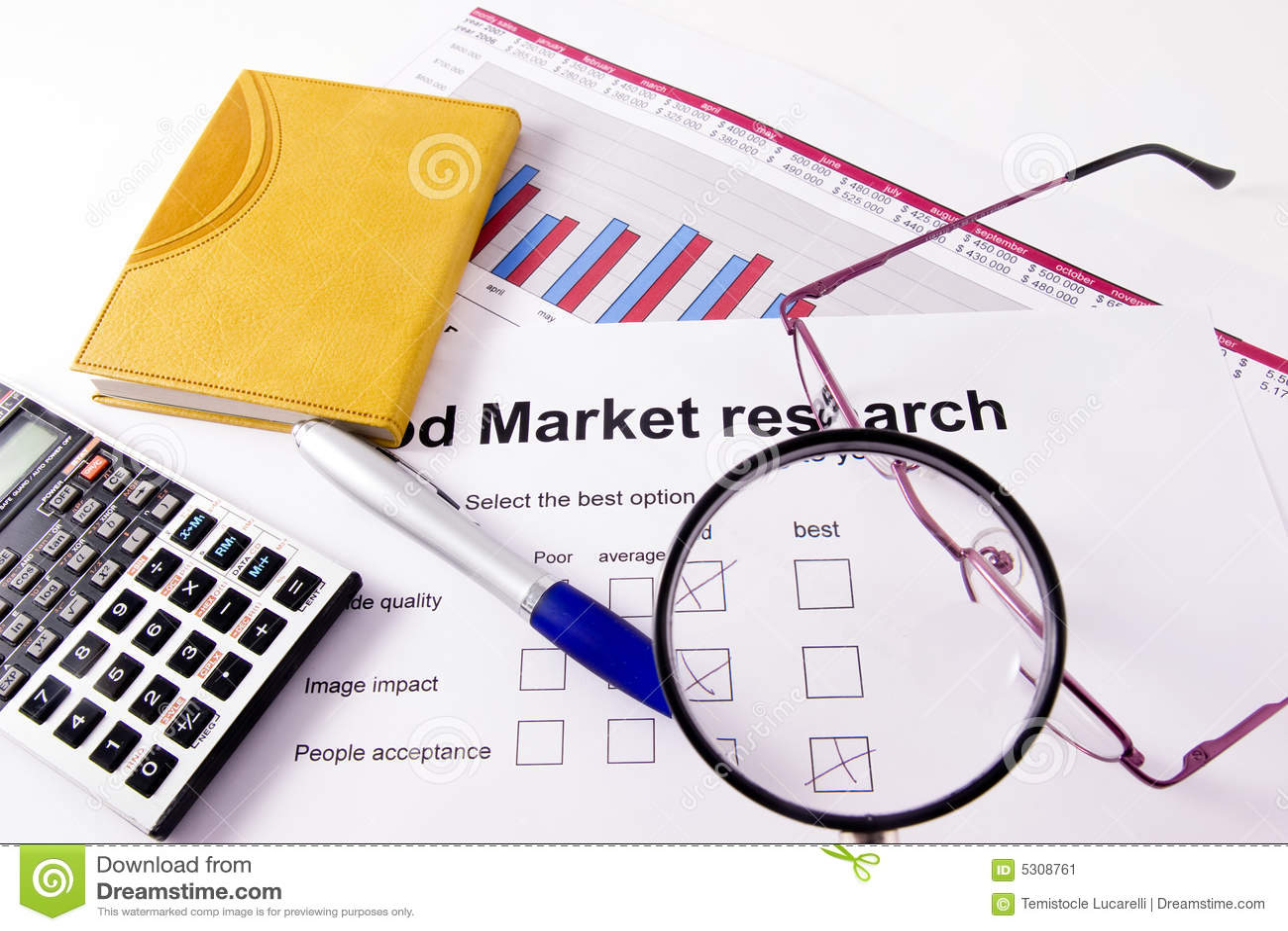 Download Ricerca di mercato immagine stock. Immagine di calcolatore - 5308761