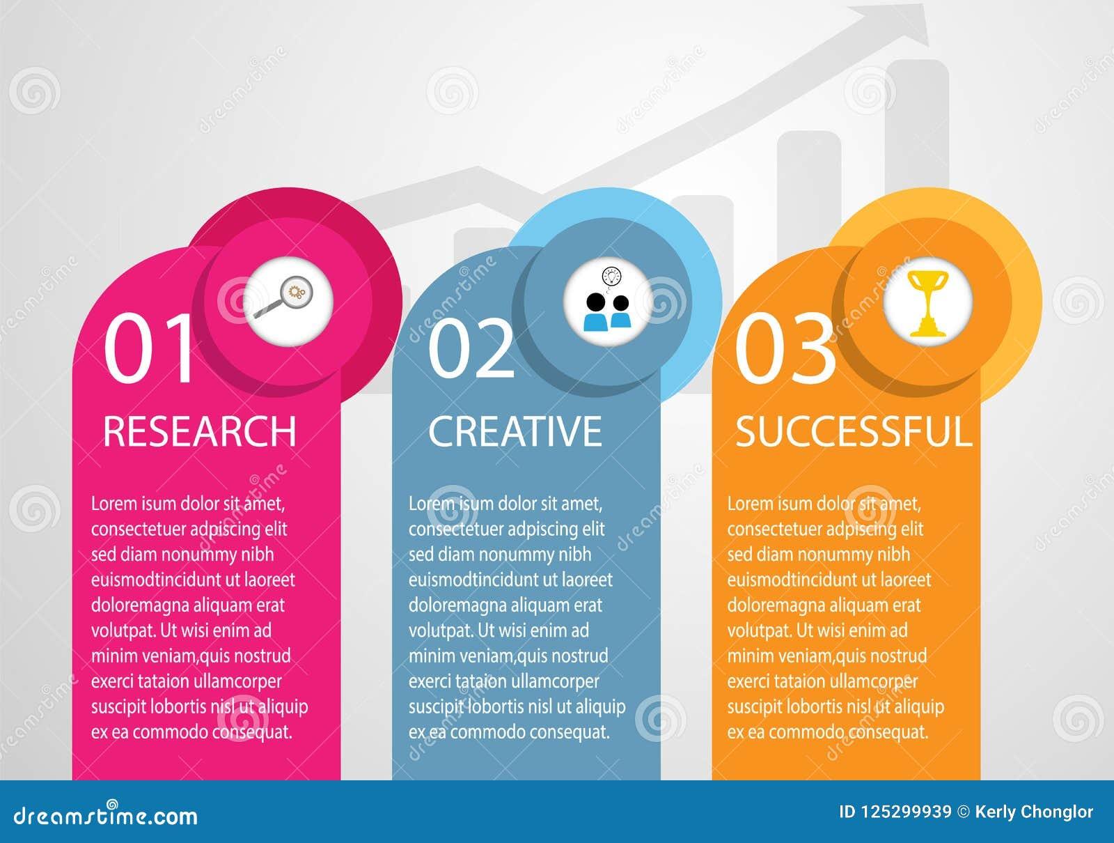 Ricerchi la ricerca di infographics di affari, creativo e riuscito