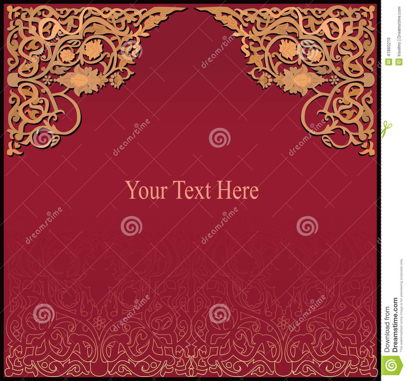 rich arabic background  vector eps8 stock vector