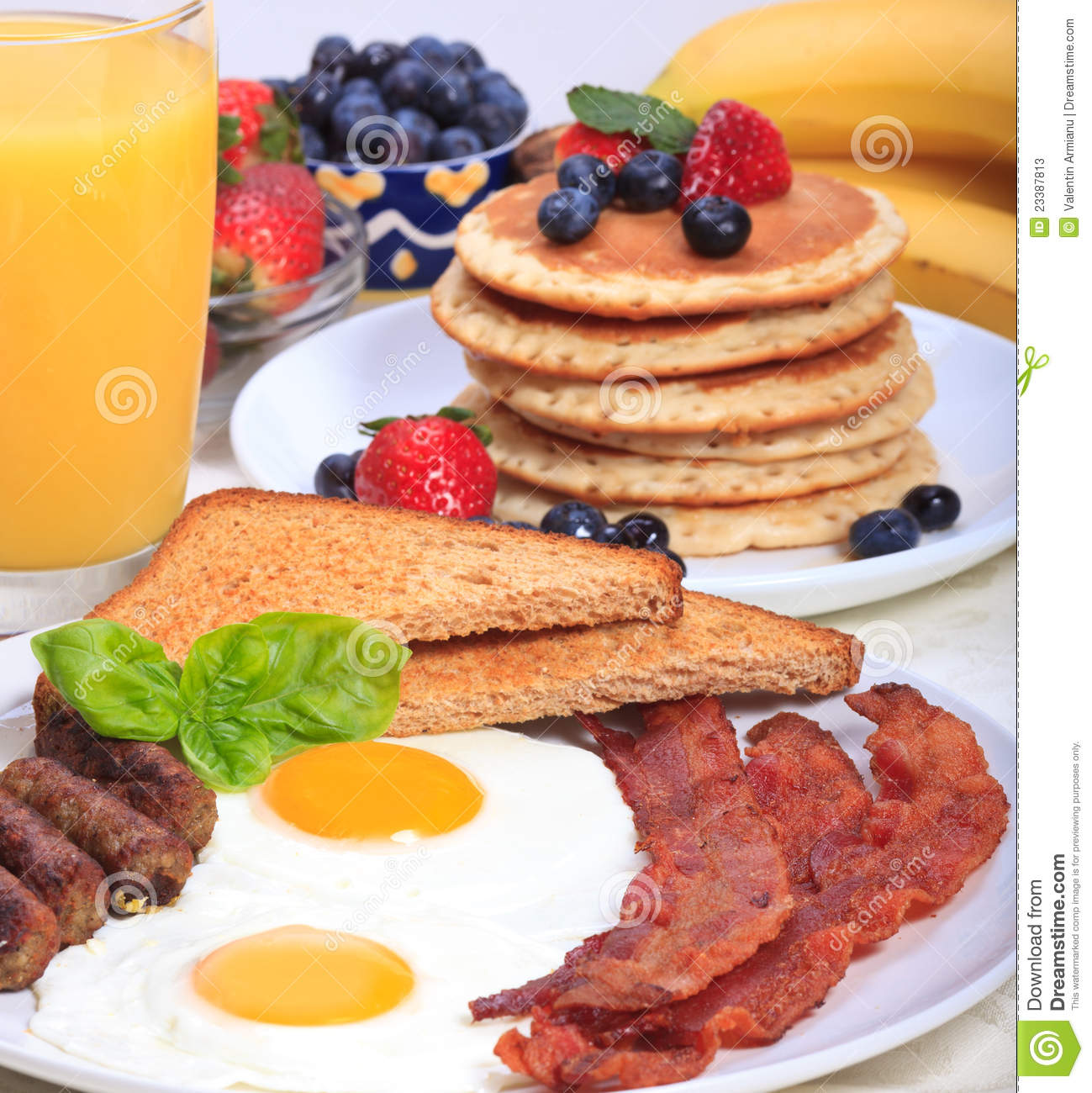 Rich Breakfast stock image. Image of orange, vegetable - 23387813