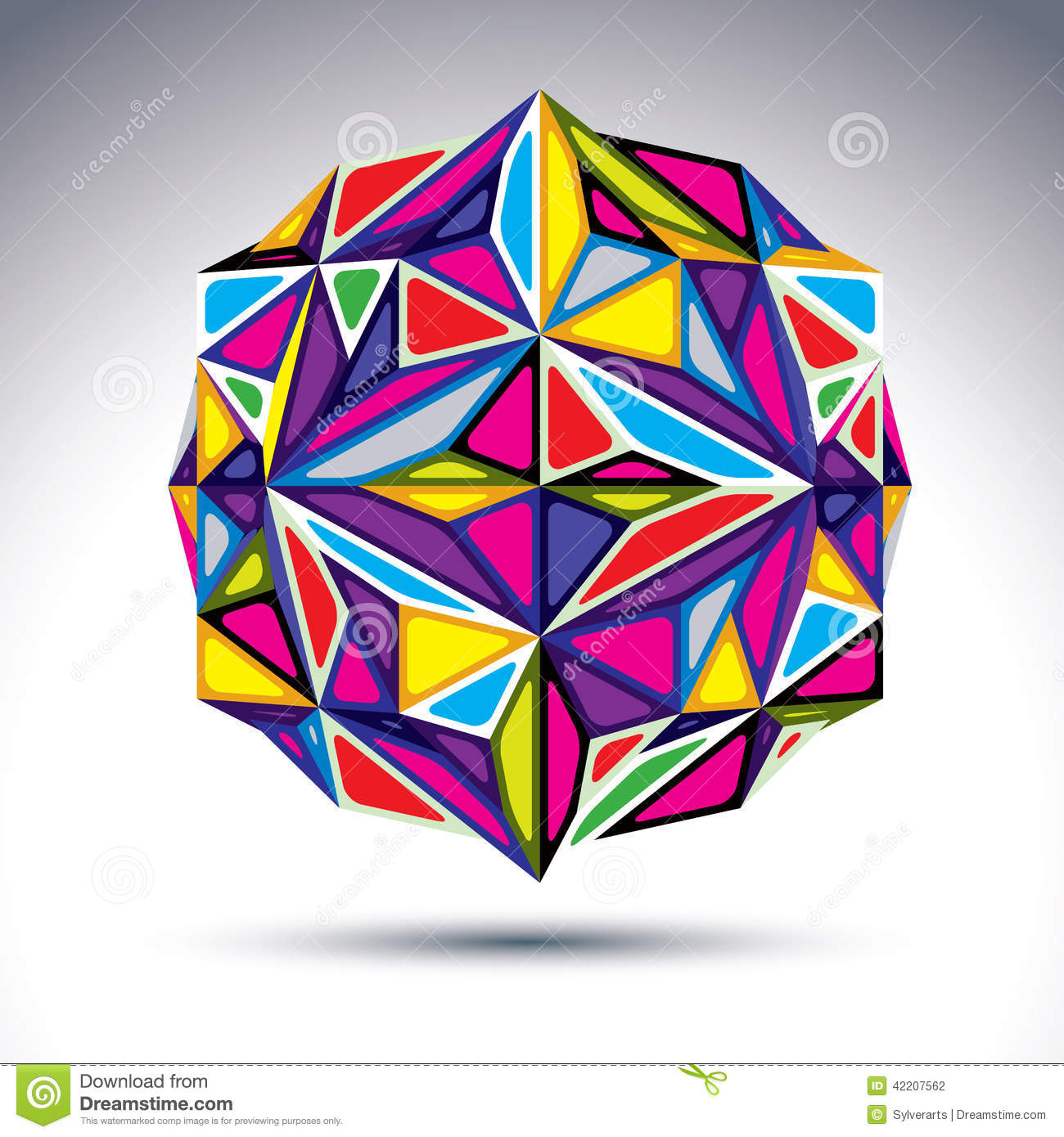 Rich 3d Abstract Psychedelic Fractal Figure. Vector Vivid ...