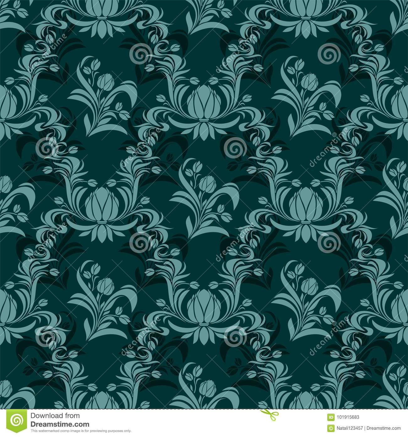 Rich Damask Seamless Ornamental Wallpaper Stock Vector