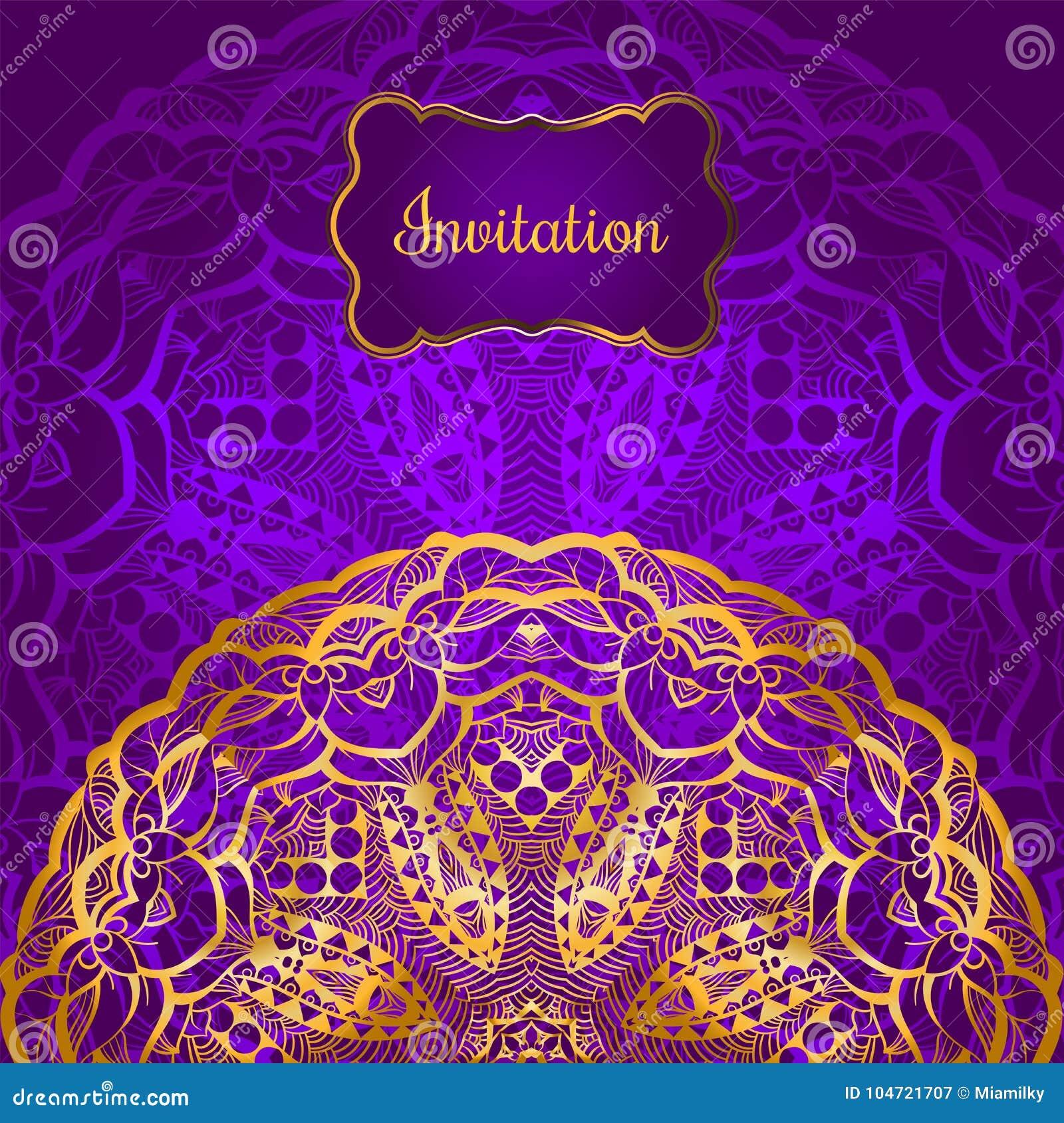 Invitation Card Design Stock Vector Illustration Of