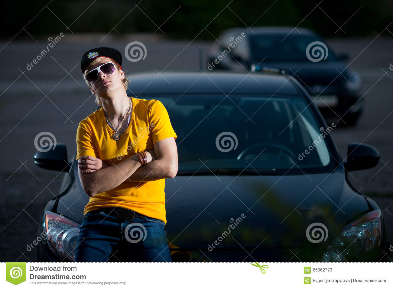 A Rich Guy In A Car, Cool Dude. Mode, Male.