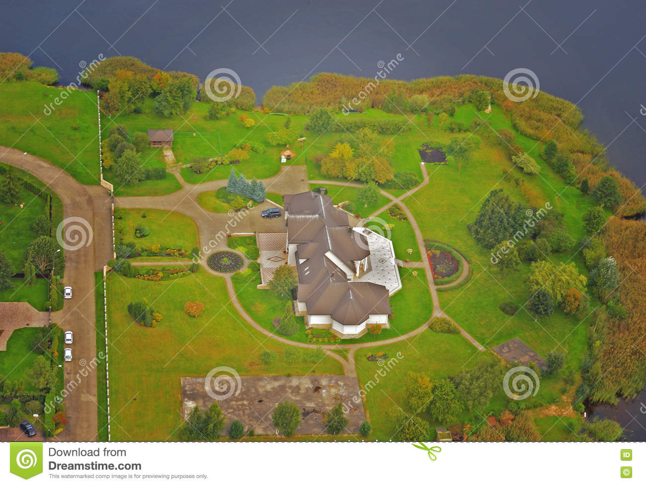 Rich House Airplane Photo Stock Photo Image 76928801