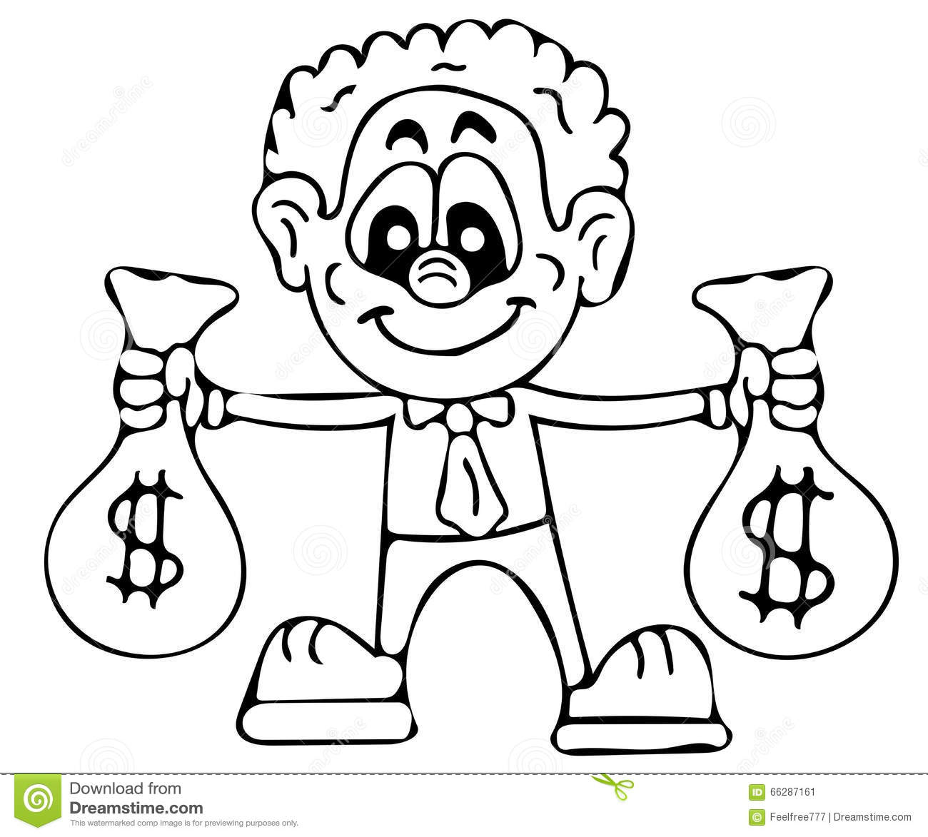 rich man coloring pages stock illustration image 66287161