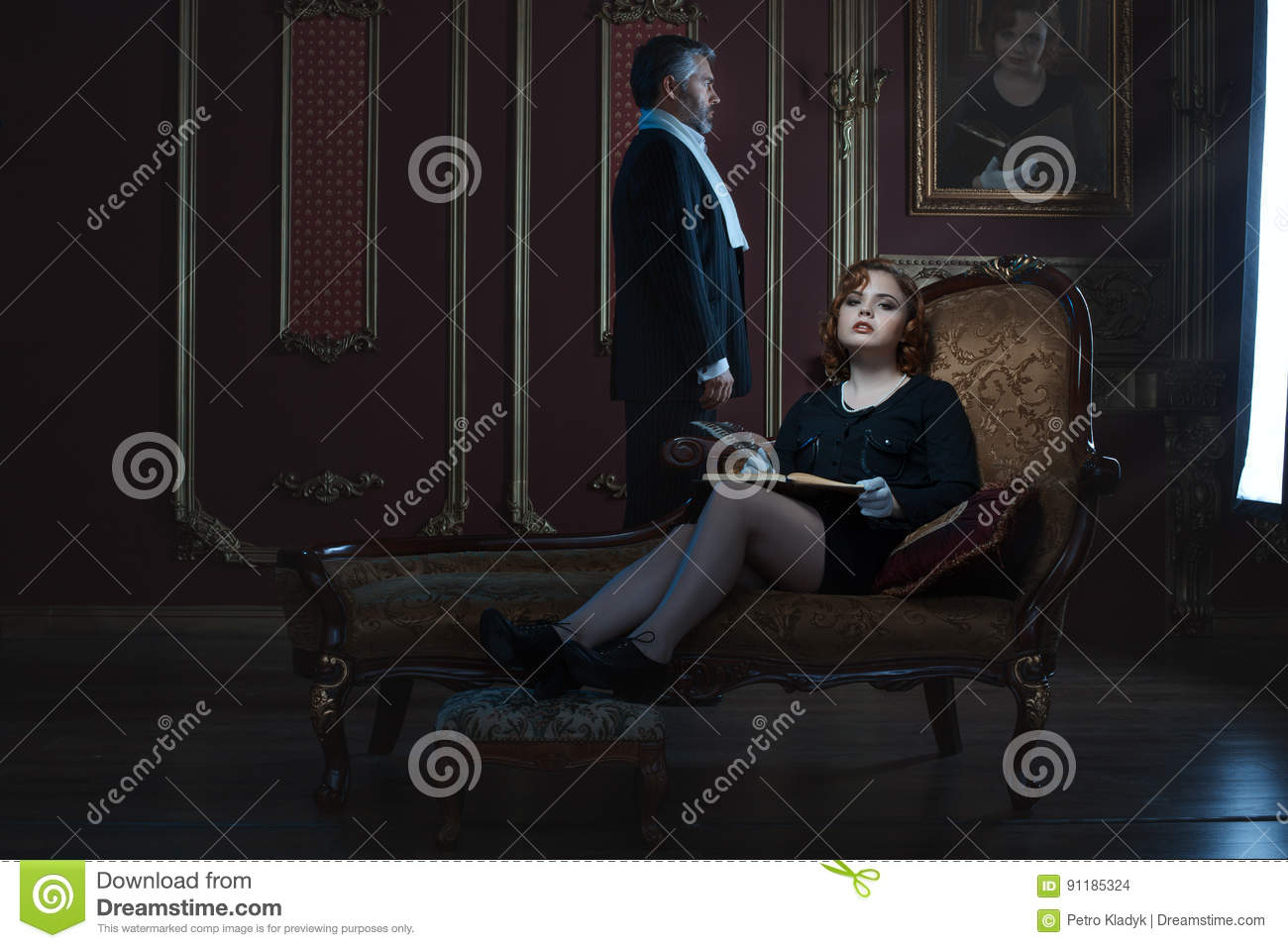 Rich and noble woman and man.