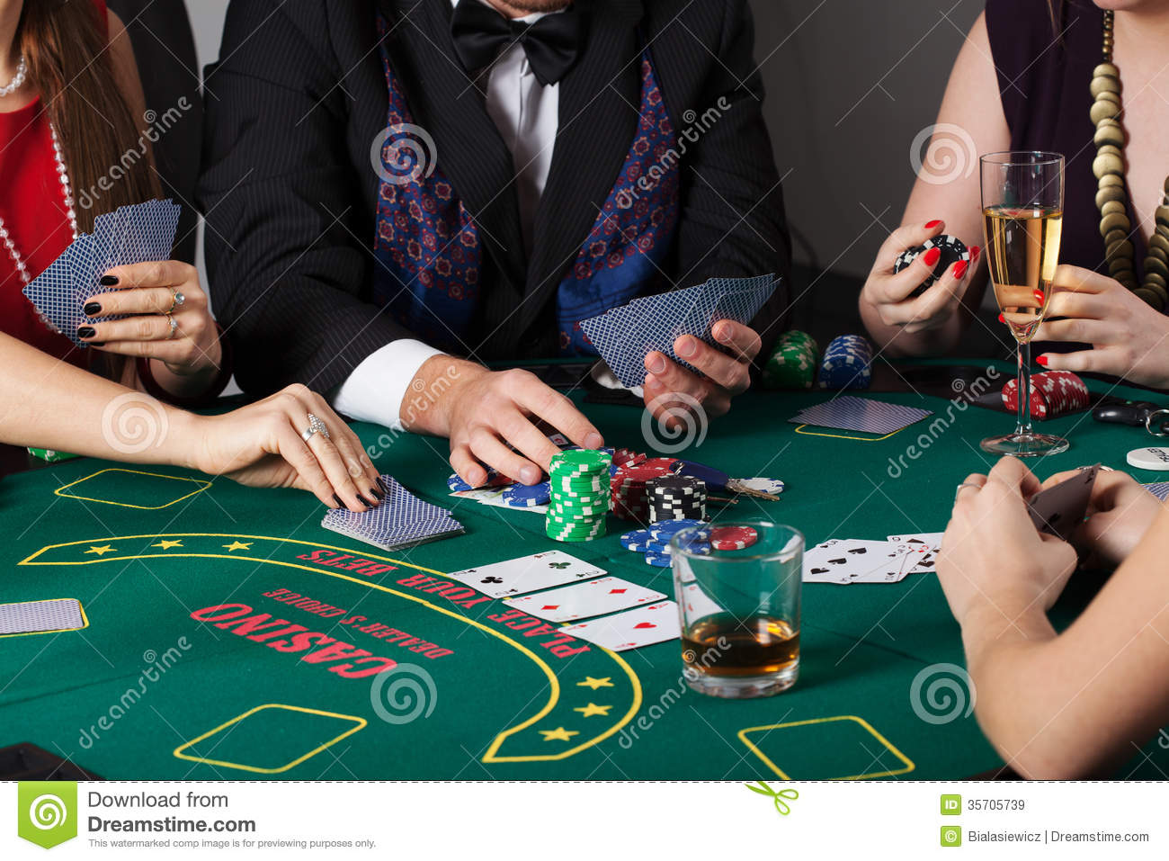 Rich People Gambling In Casino Stock Image Image 35705739