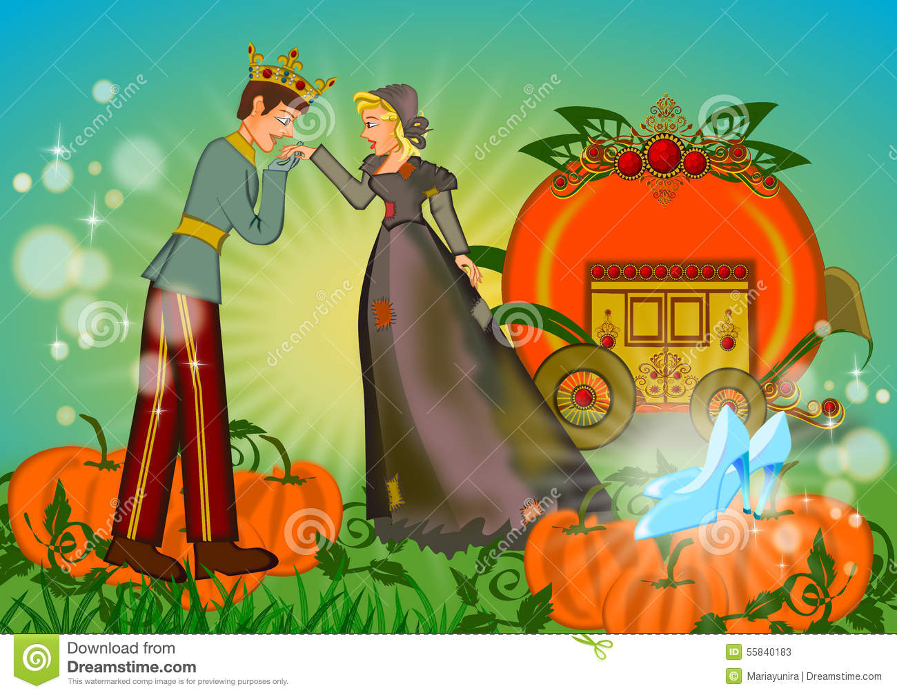 Download Rich And Poor In Love On Cinderella Story Stock Image