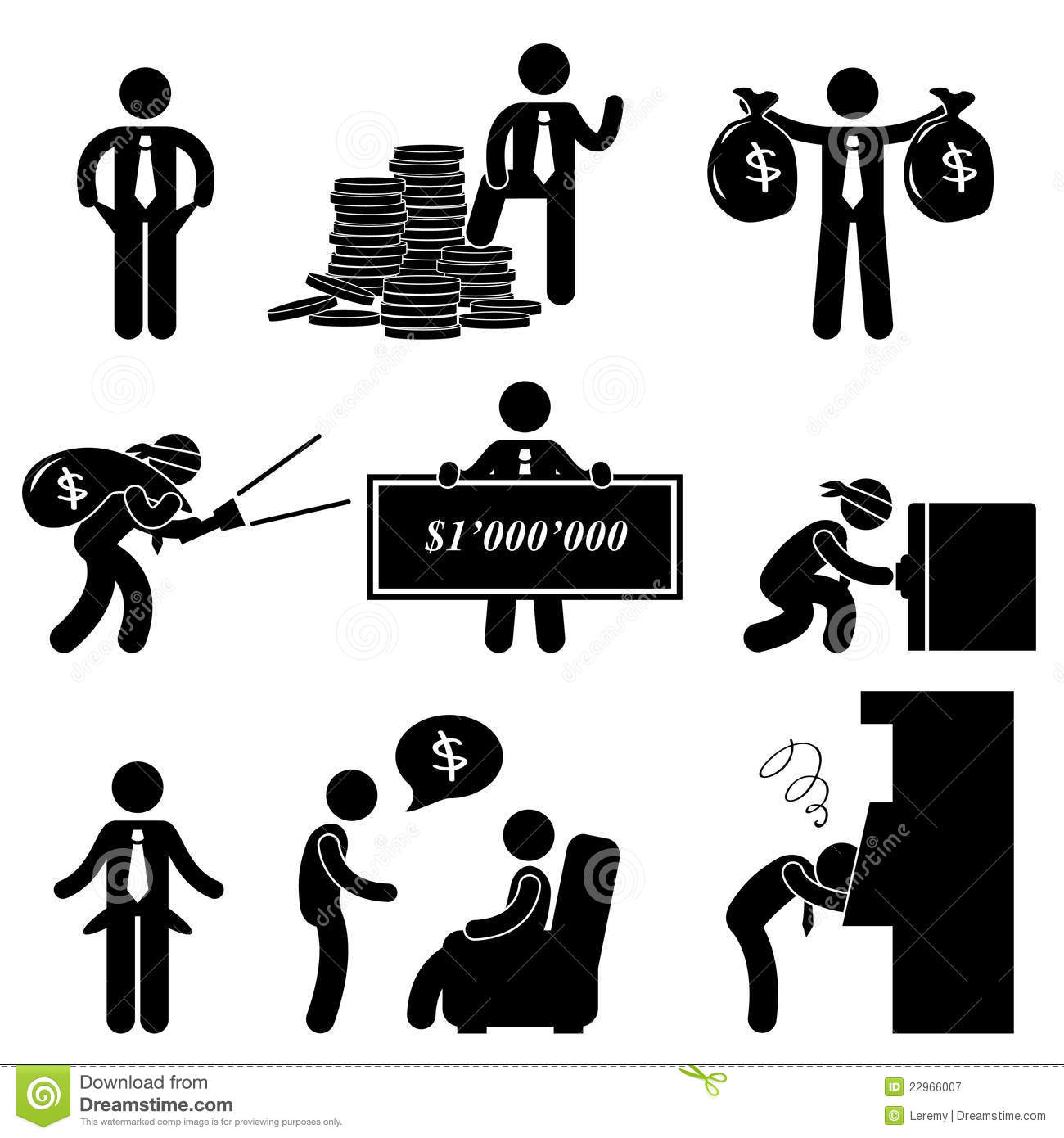 Rich And Poor Man People Pictogram Royalty Free Stock Photography ...