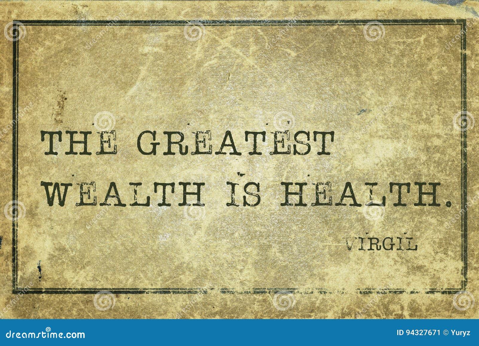 Richesse Virgil de santé