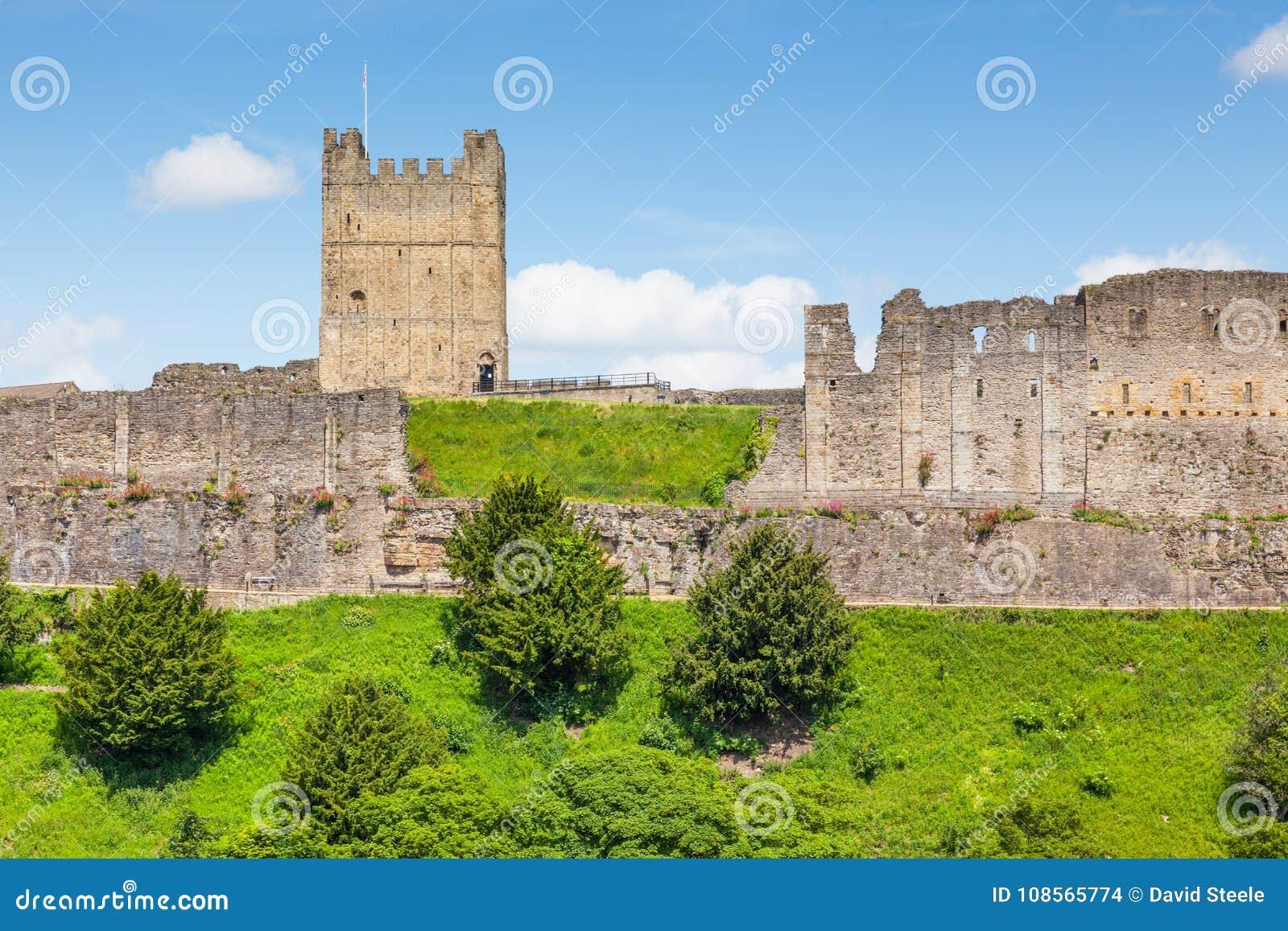 Richmond Castle in Yorkshire, Inghilterra