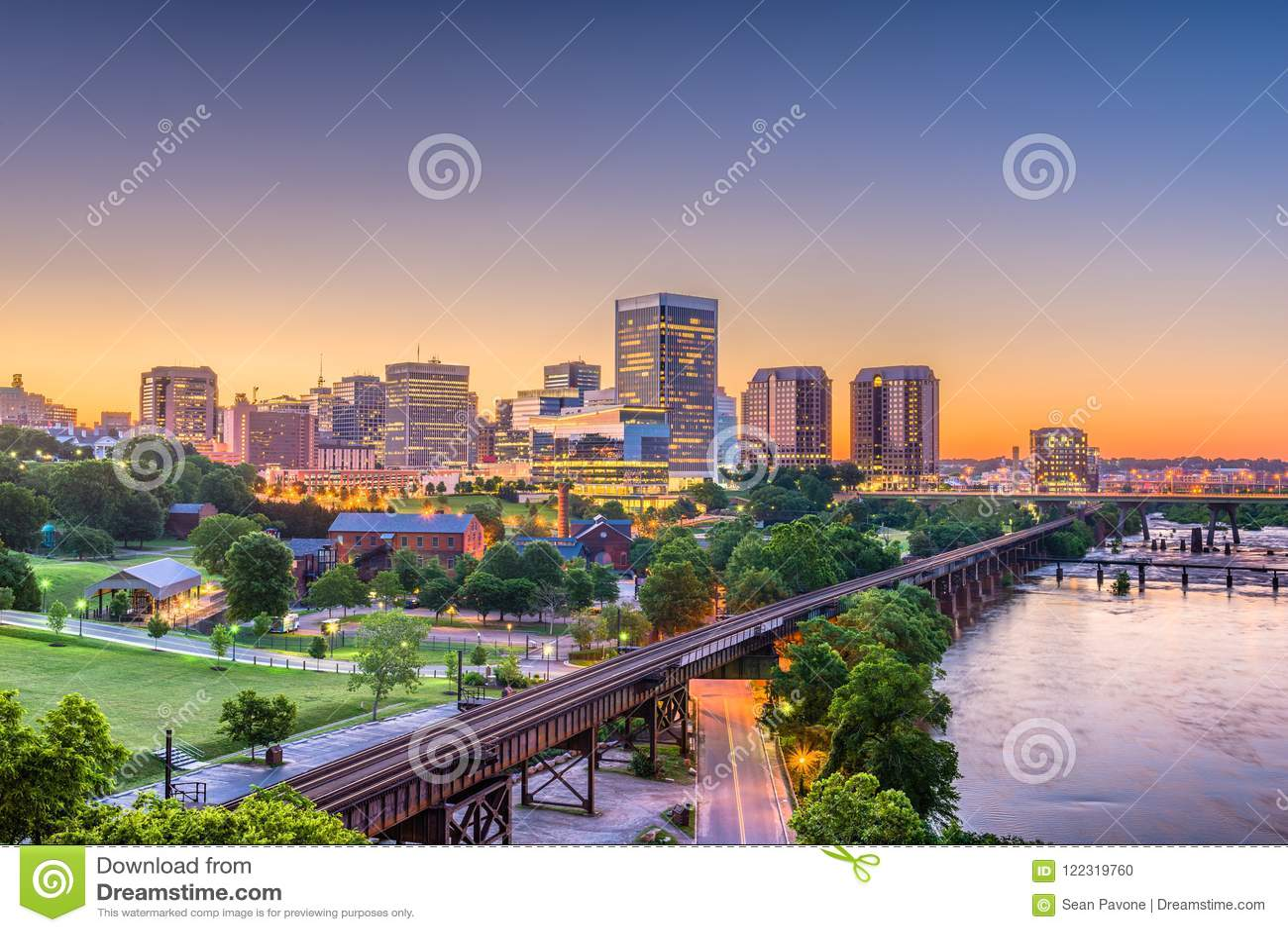 Richmond, la Virginia, U.S.A. Skylinhe