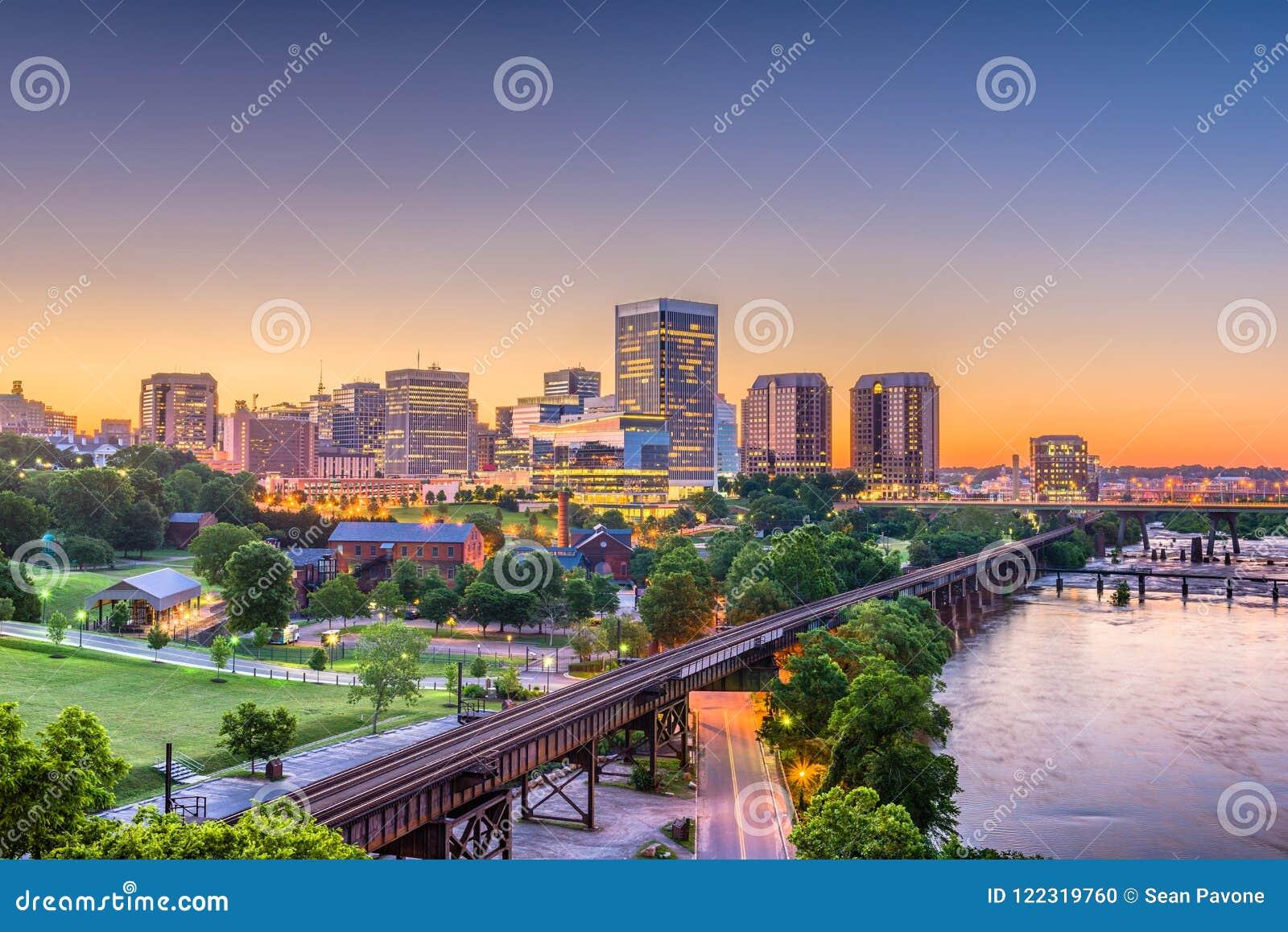 Richmond, Virginia, los E.E.U.U. Skylinhe