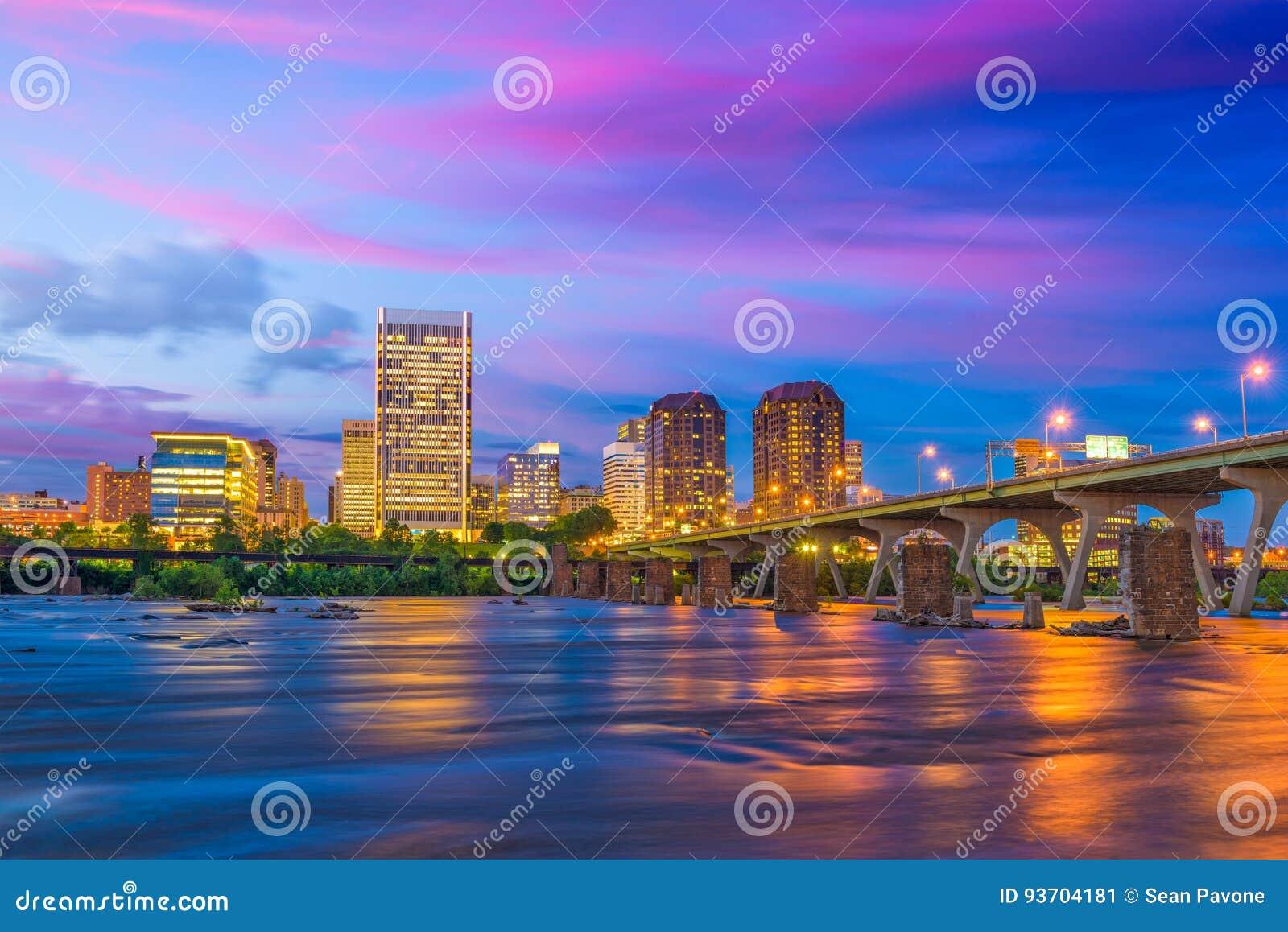 Richmond, Virginia River Skyline
