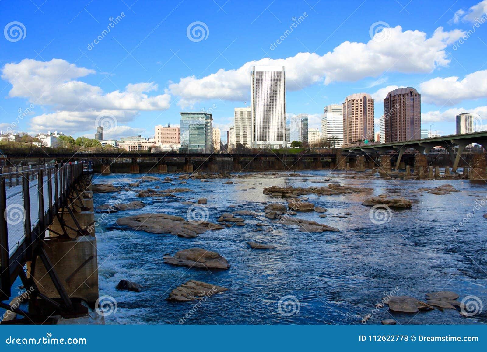 Richmond Virginia Skyline Summer James River
