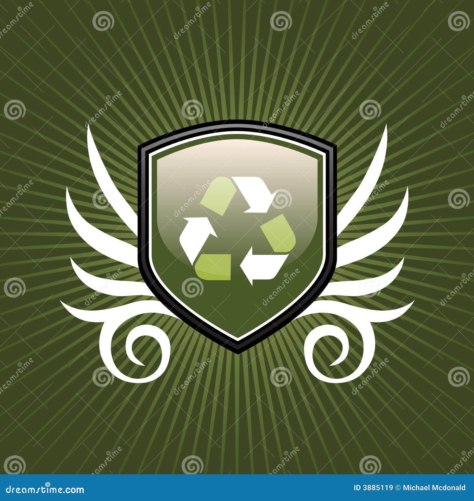 Ricicli l emblema dello schermo di simbolo