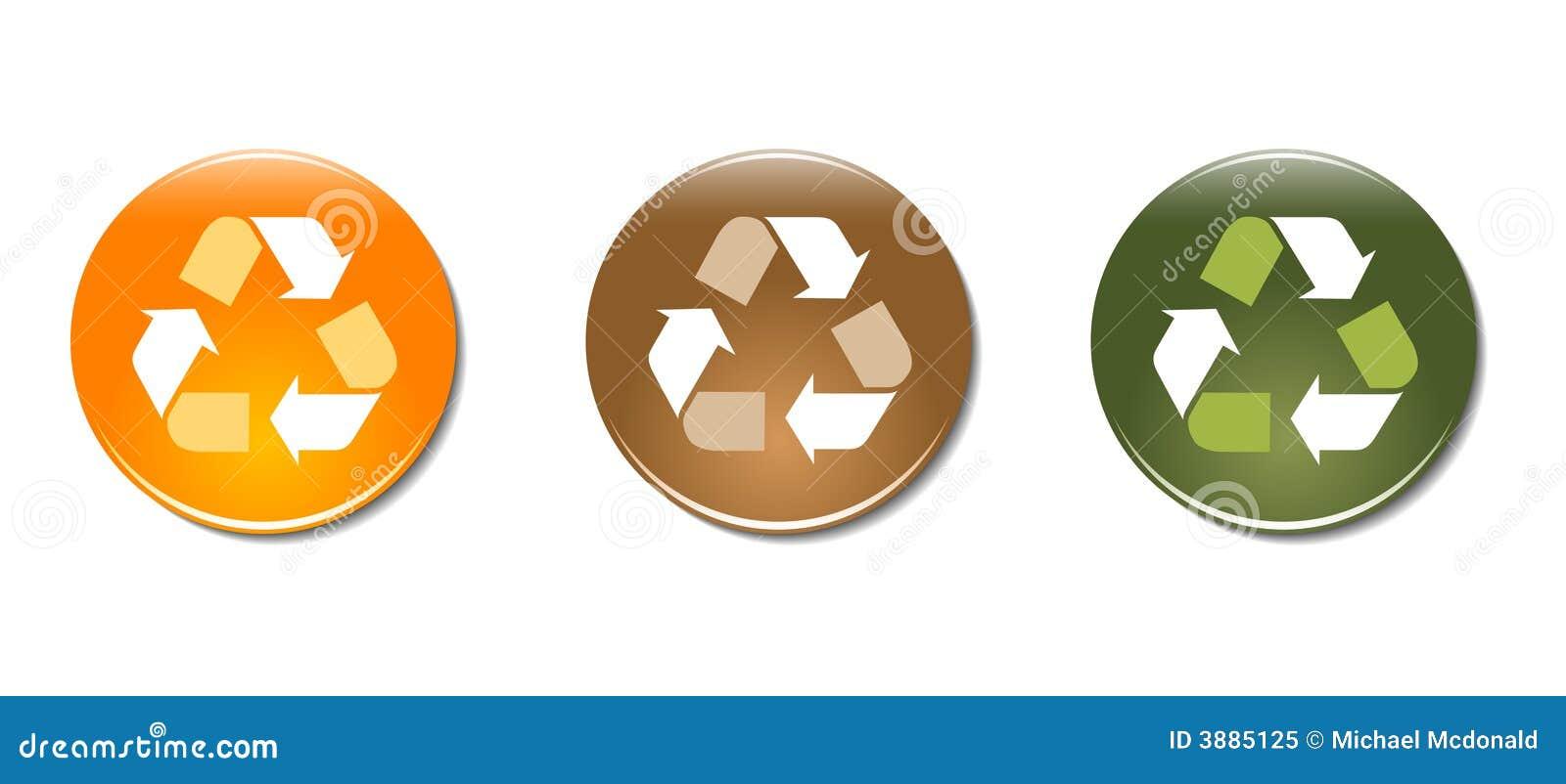 Ricicli le icone del distintivo di simbolo