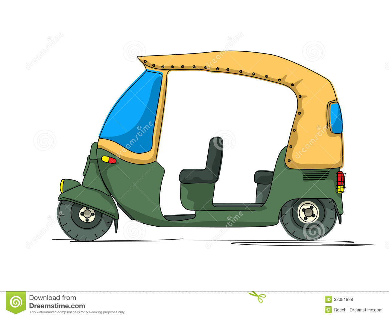 Royalty free stock photos rickshaw cartoon