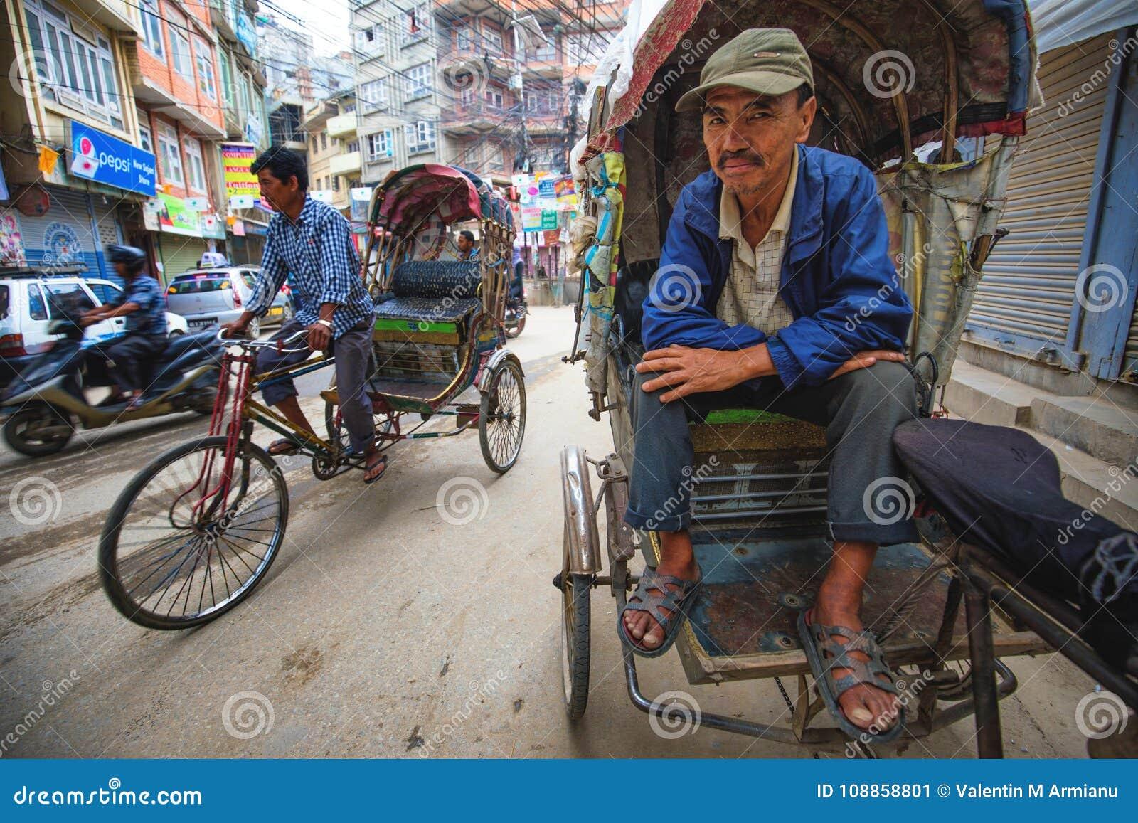 Rickshaws driver