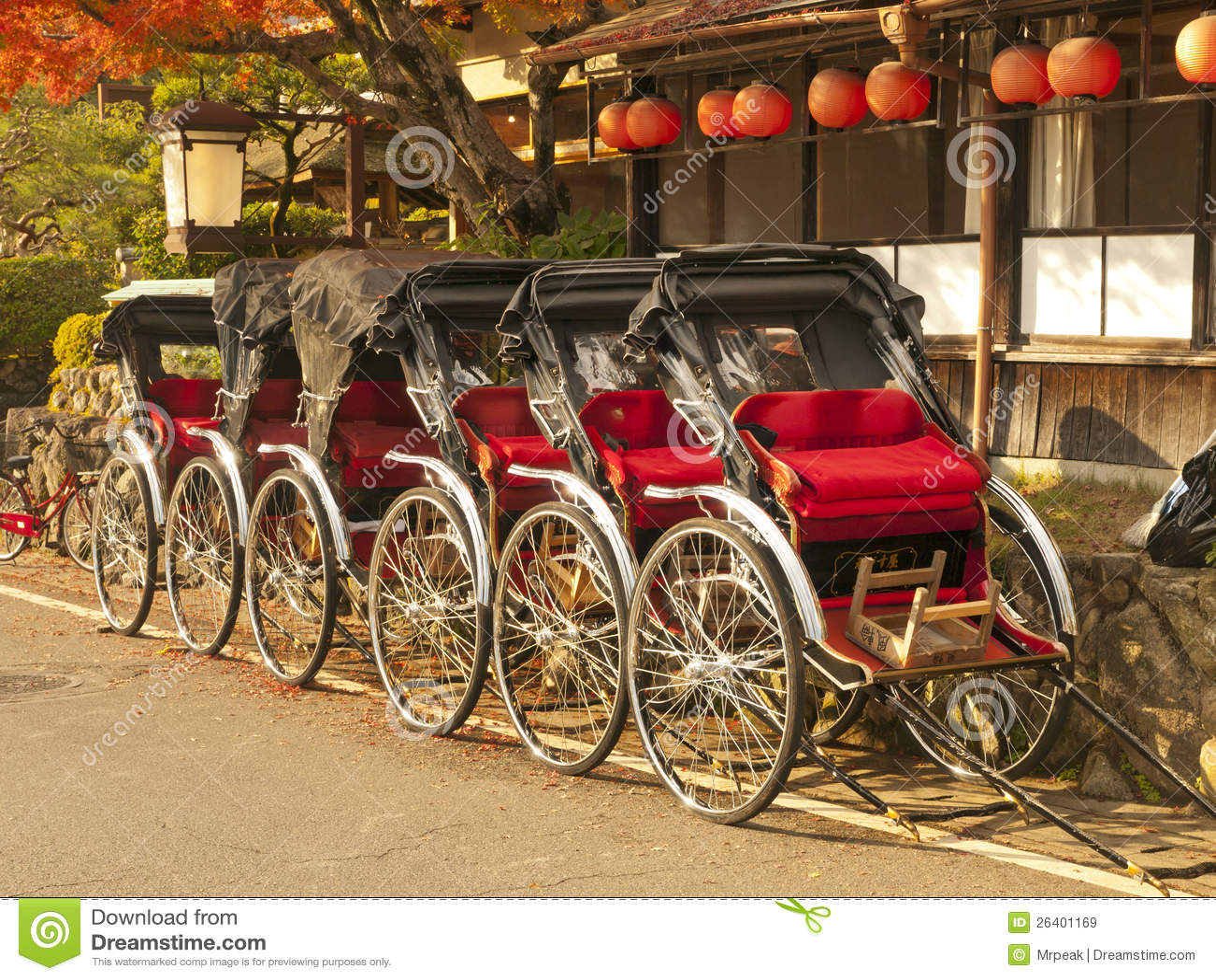 Rickshaws in Japan