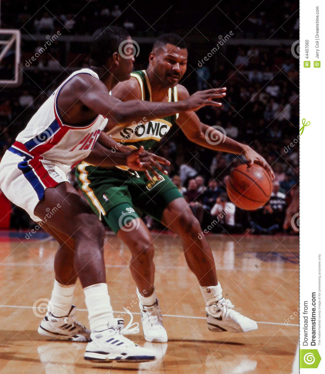 Ricky Pierce Seattle Sonics Editorial Image Image