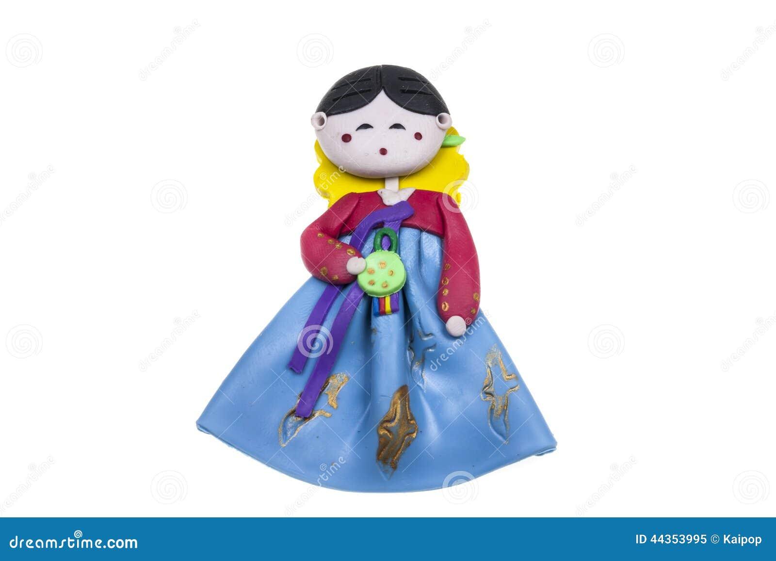 Ricordo tradizionale femminile della Corea della bambola