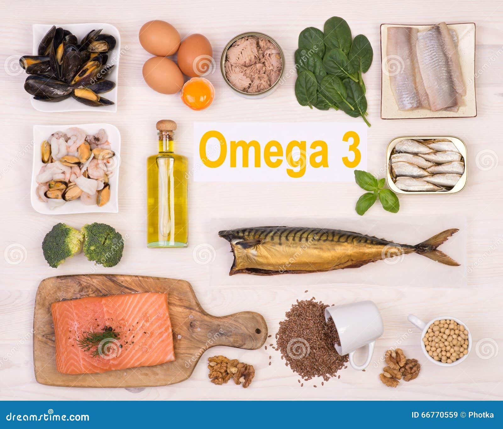 Ricos de la comida en el ácido graso de Omega 3