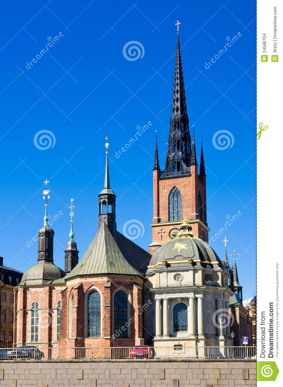 Riddarholmen Church Stockholm Sweden Stock Photo Image