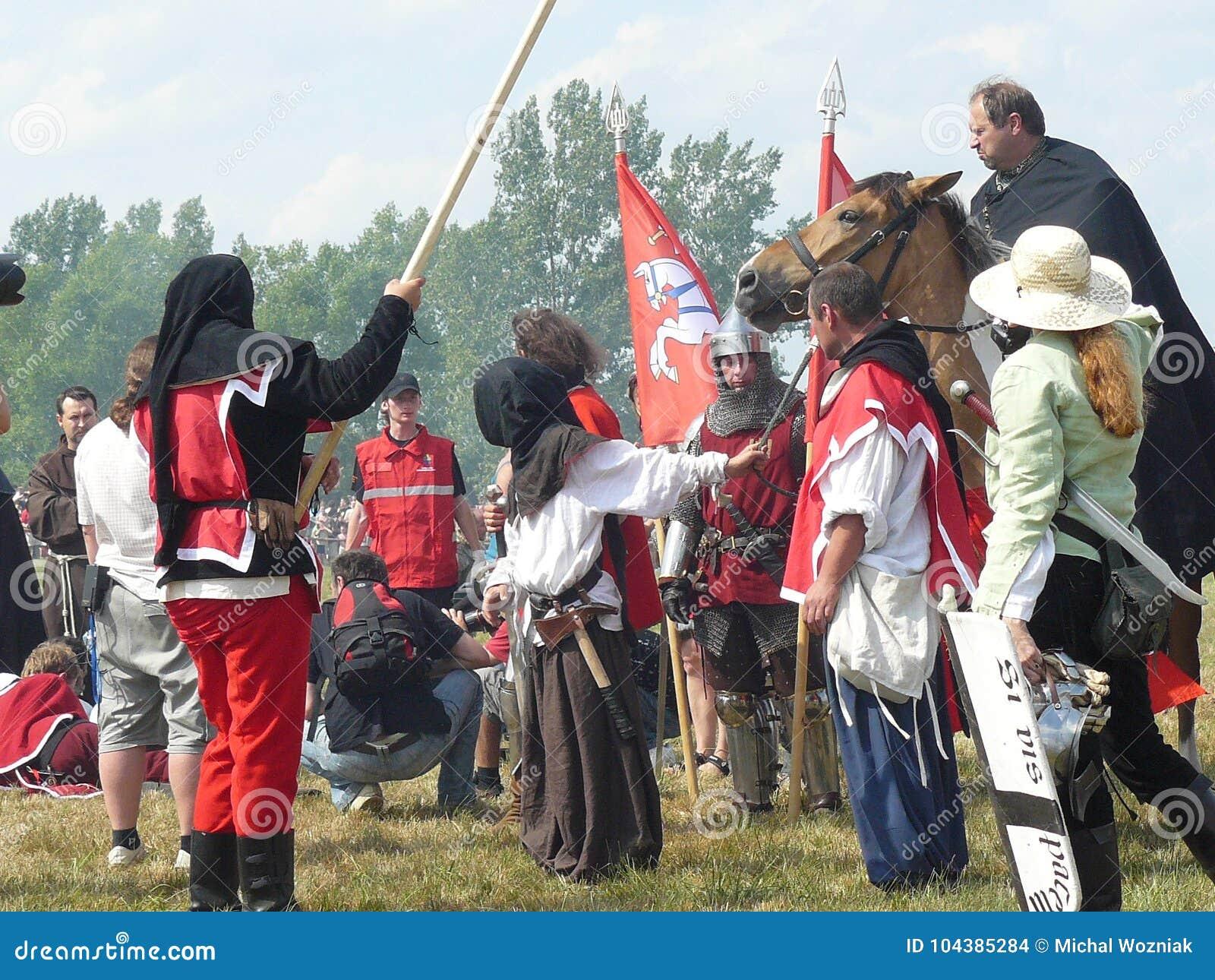 Ridders op de wederopbouw van de Slag van Grunwald