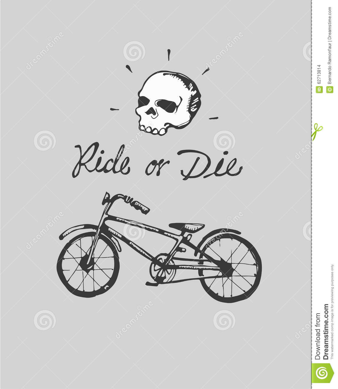 Ride or die stock vector image 62713814 for Ride or die tattoo designs
