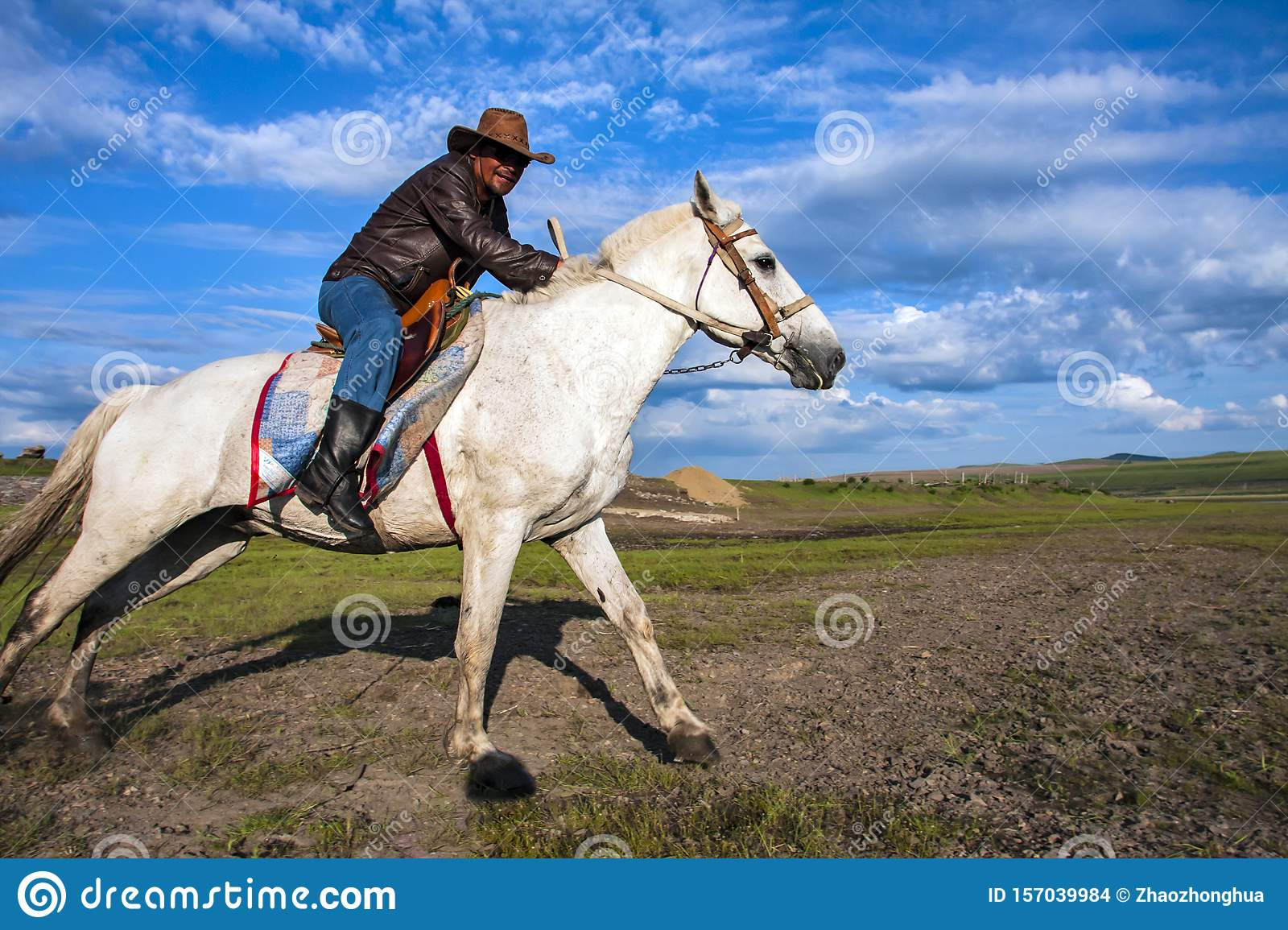 Ride A White Horse Of Man Cowboy Horse Editorial Stock Image Image Of Animals Charming 157039984