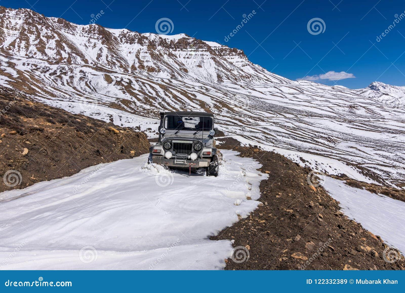 Ride On Winter Spiti Landscape Of Spiti Valley Himachal Pradesh