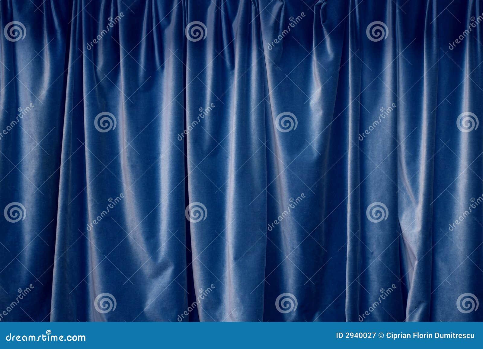 rideaux bleu