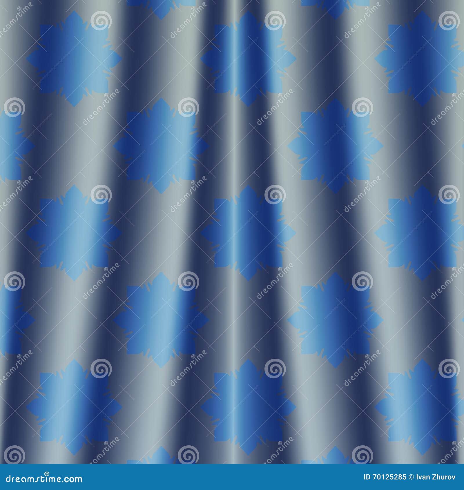 rideau color m tallique profond ment bleu en nuit de tissu avec le mod le de fleur illustration. Black Bedroom Furniture Sets. Home Design Ideas