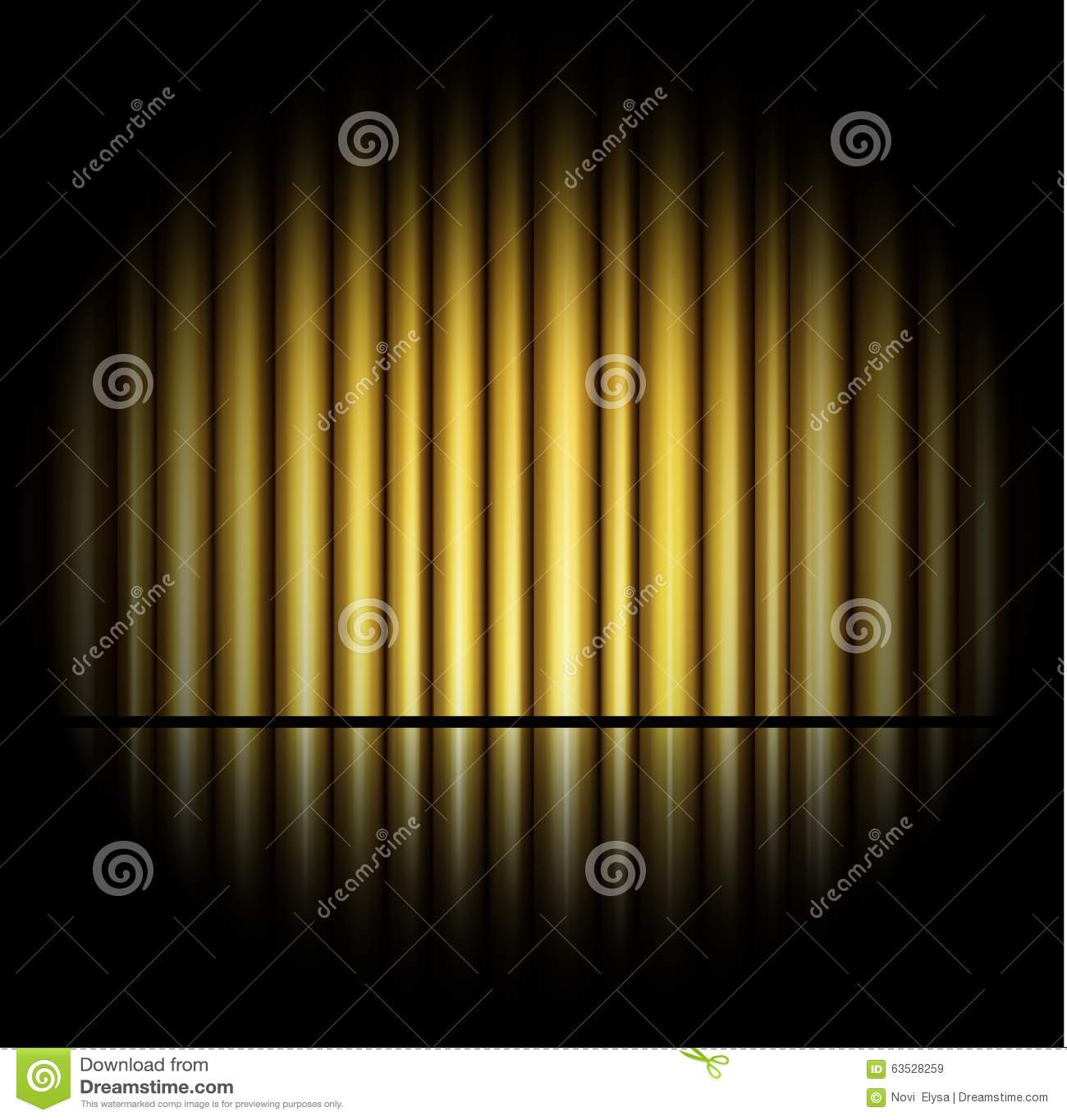 rideau de fond d or illustration de vecteur image 63528259