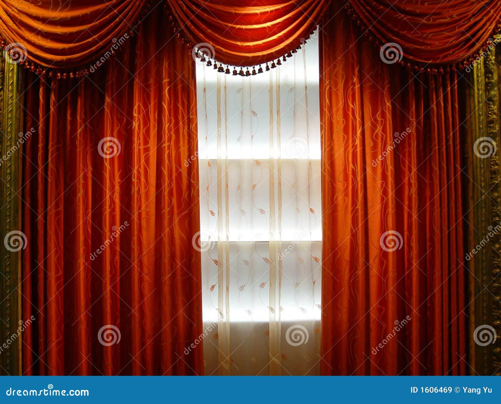 rideau de luxe images libres de droits image 1606469