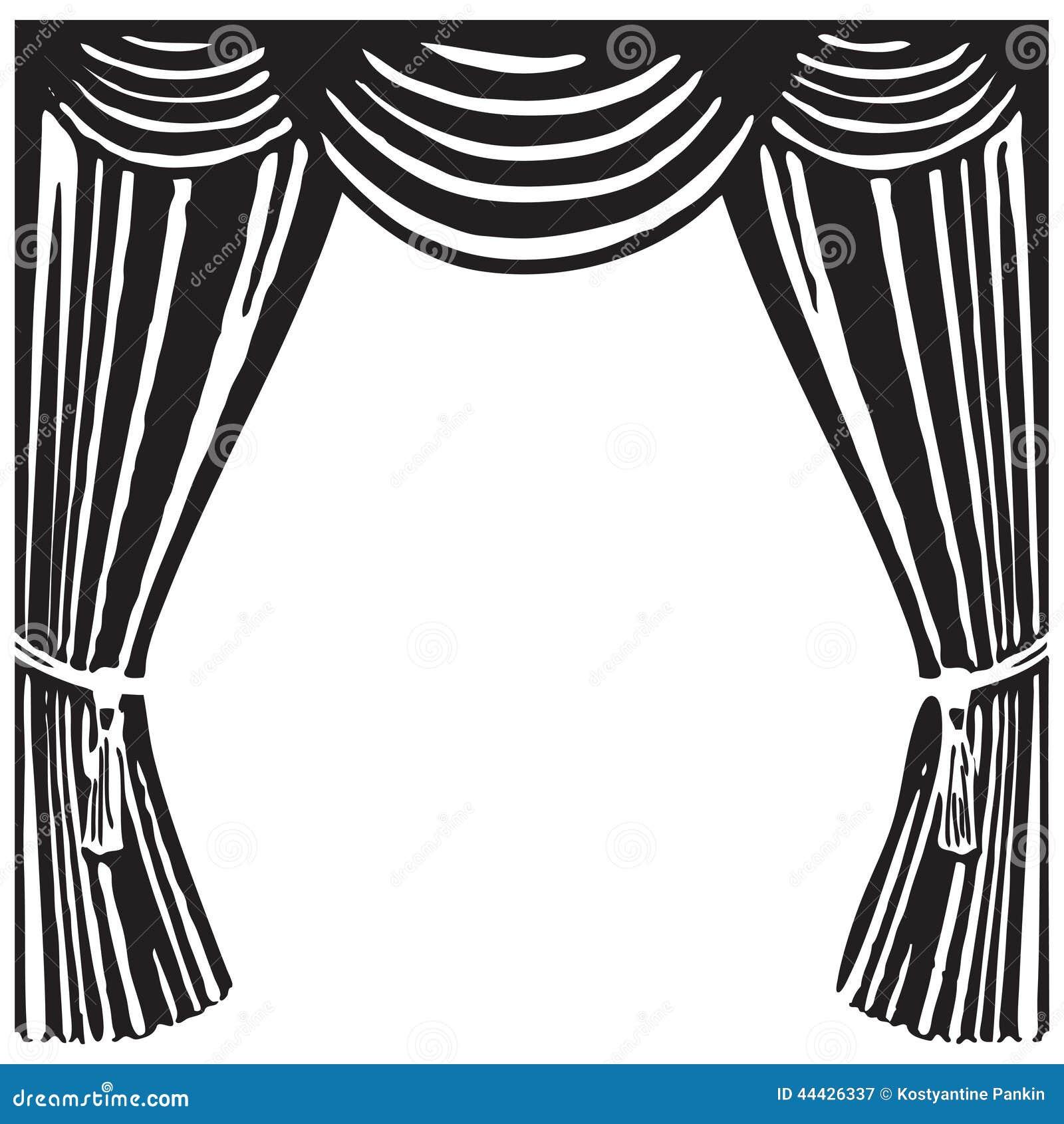 rideau en th 233 226 tre illustration de vecteur image 44426337