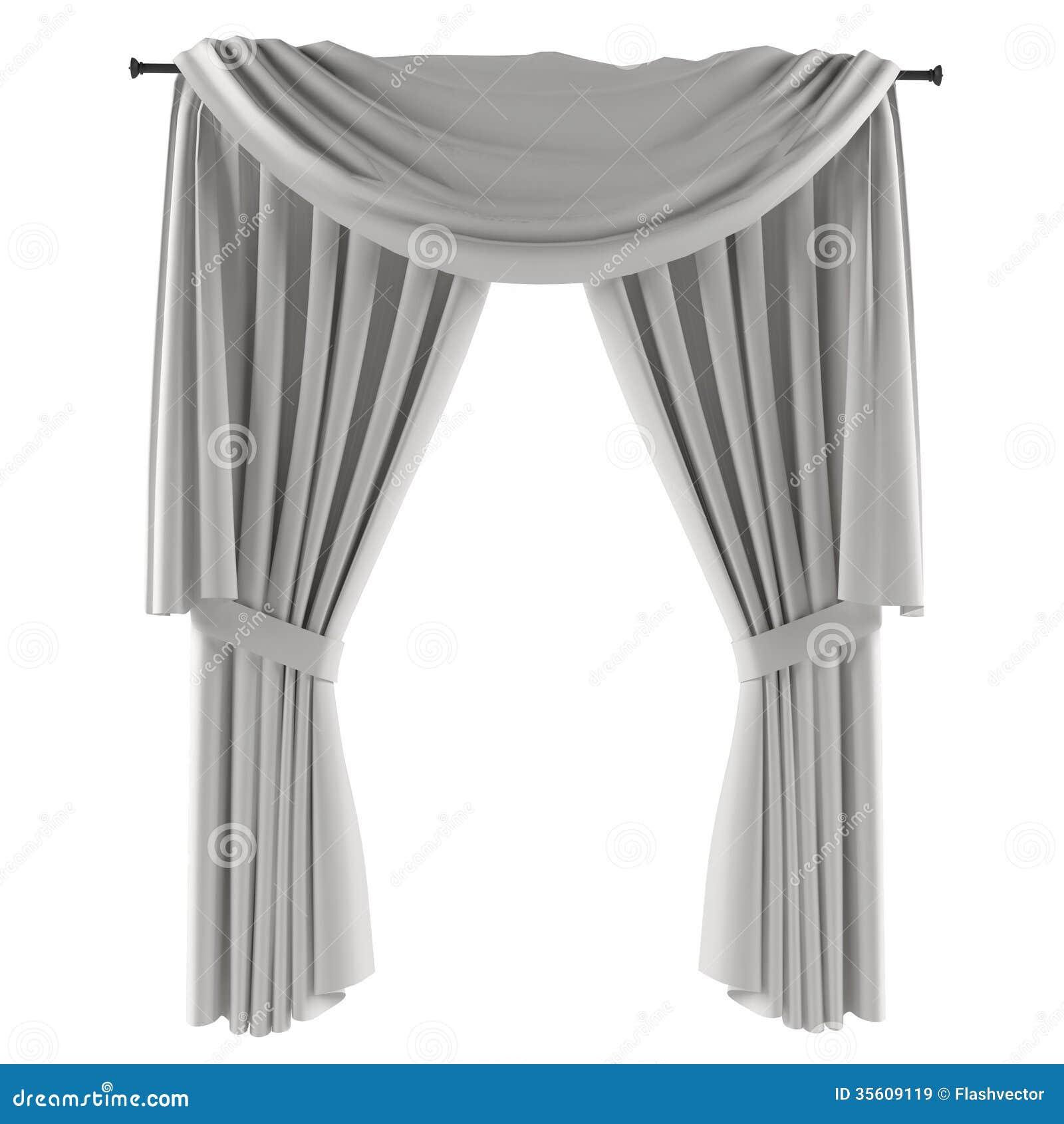 rideau gris blanc images libres de droits image 35609119. Black Bedroom Furniture Sets. Home Design Ideas