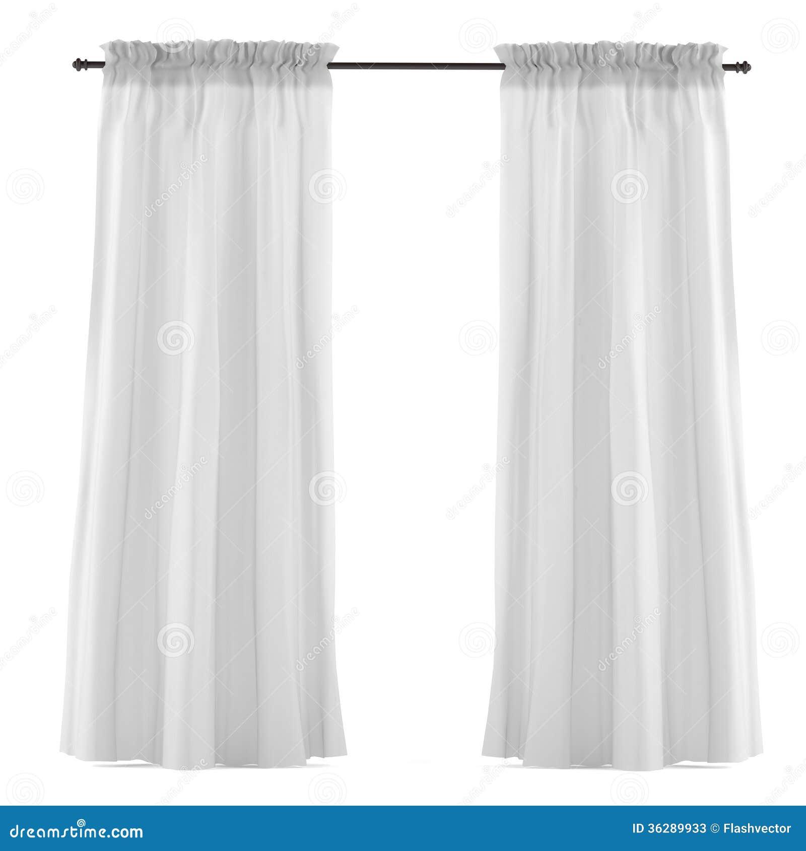 rideau gris blanc d 39 isolement photos stock image 36289933. Black Bedroom Furniture Sets. Home Design Ideas