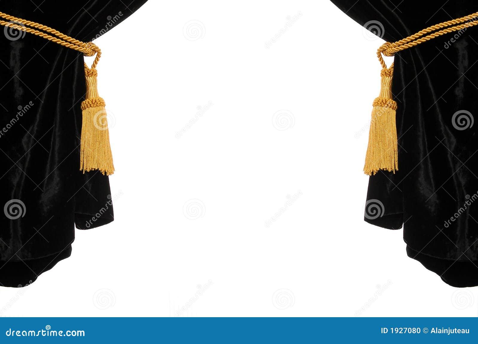 Rideau noir en velours