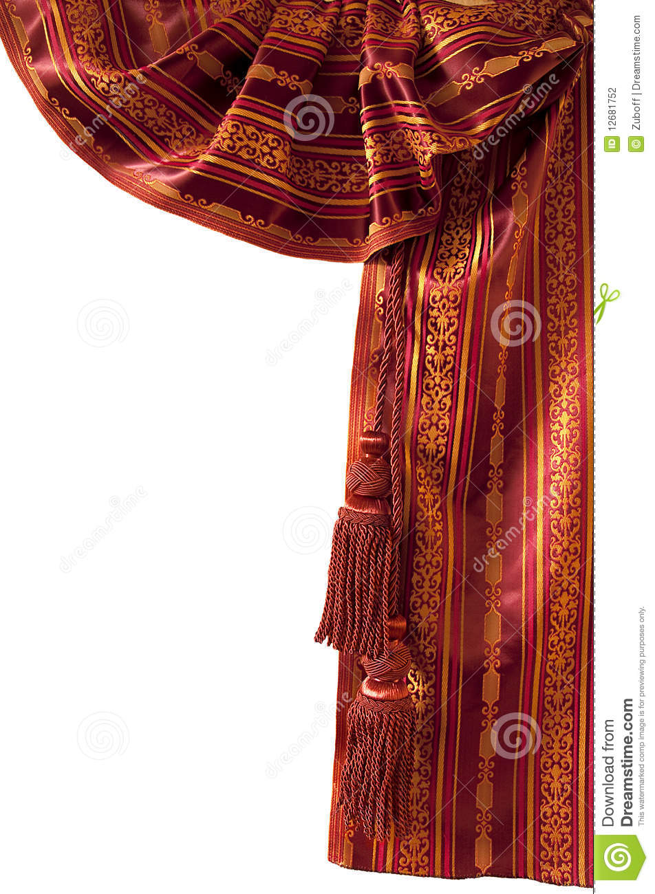 Rideau Oriental Rouge Photo Stock Image Du Rouge Orange 12681752