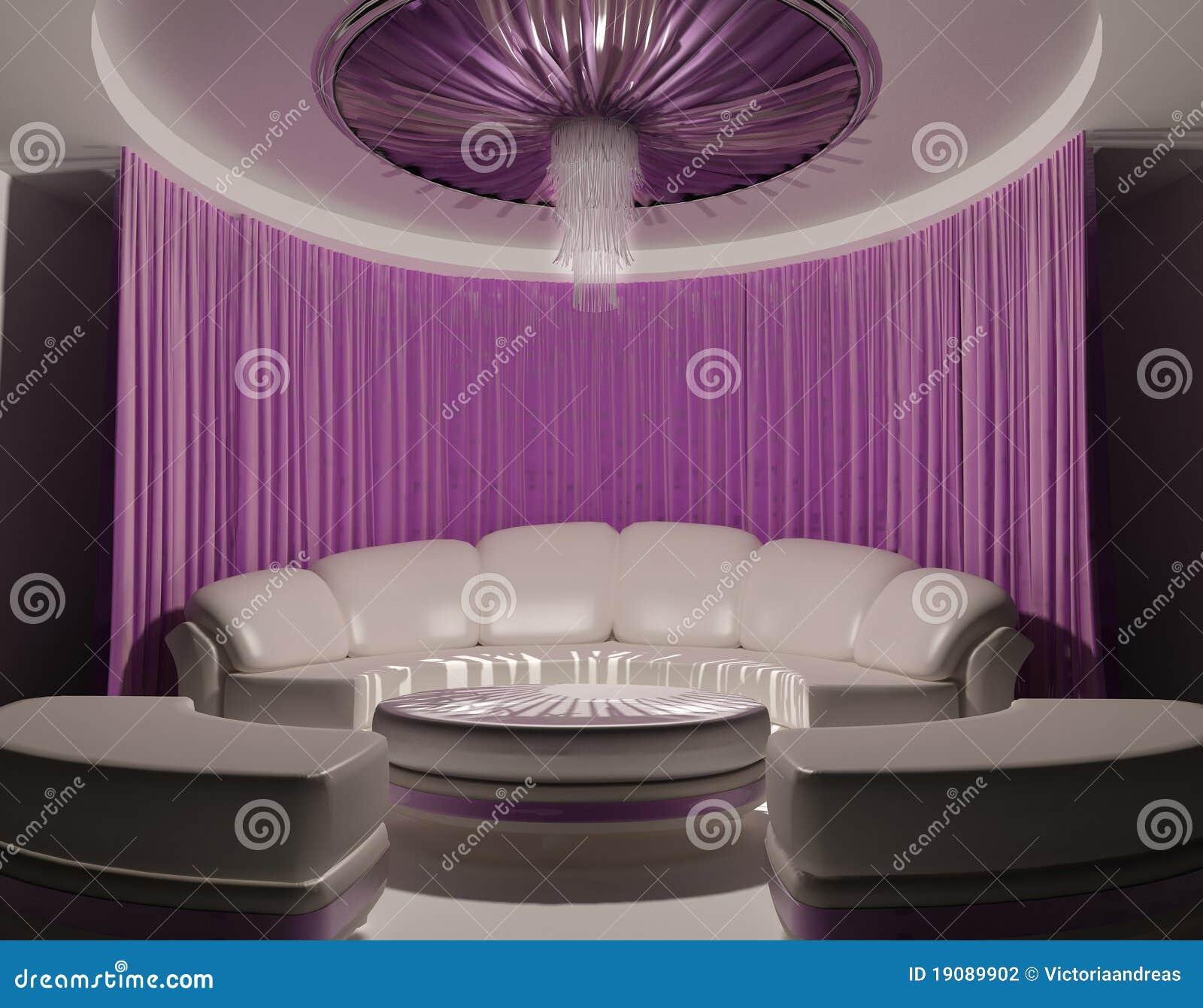 Rideau sur le plafond et sofa dans l 39 int rieur de luxe for Rideau interieur