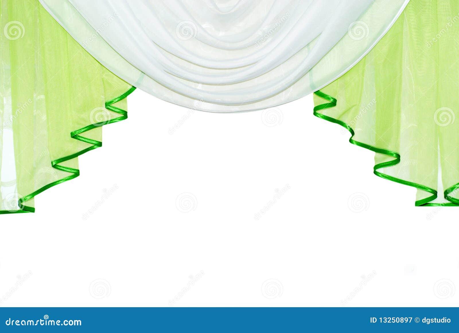 rideau vert photographie stock libre de droits image. Black Bedroom Furniture Sets. Home Design Ideas