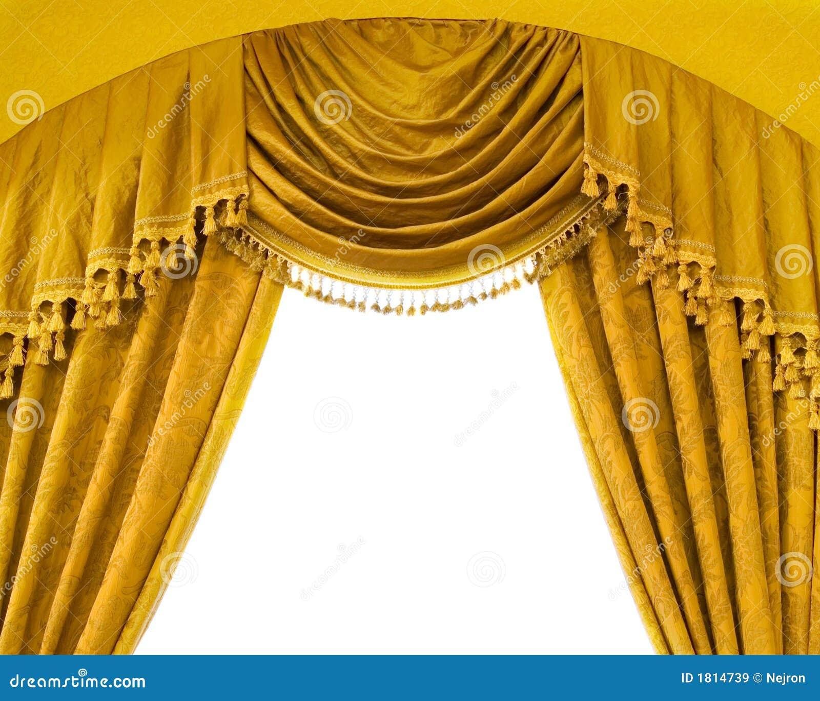 rideaux de luxe avec l 39 espace libre au milieu images libres de droits image 1814739. Black Bedroom Furniture Sets. Home Design Ideas